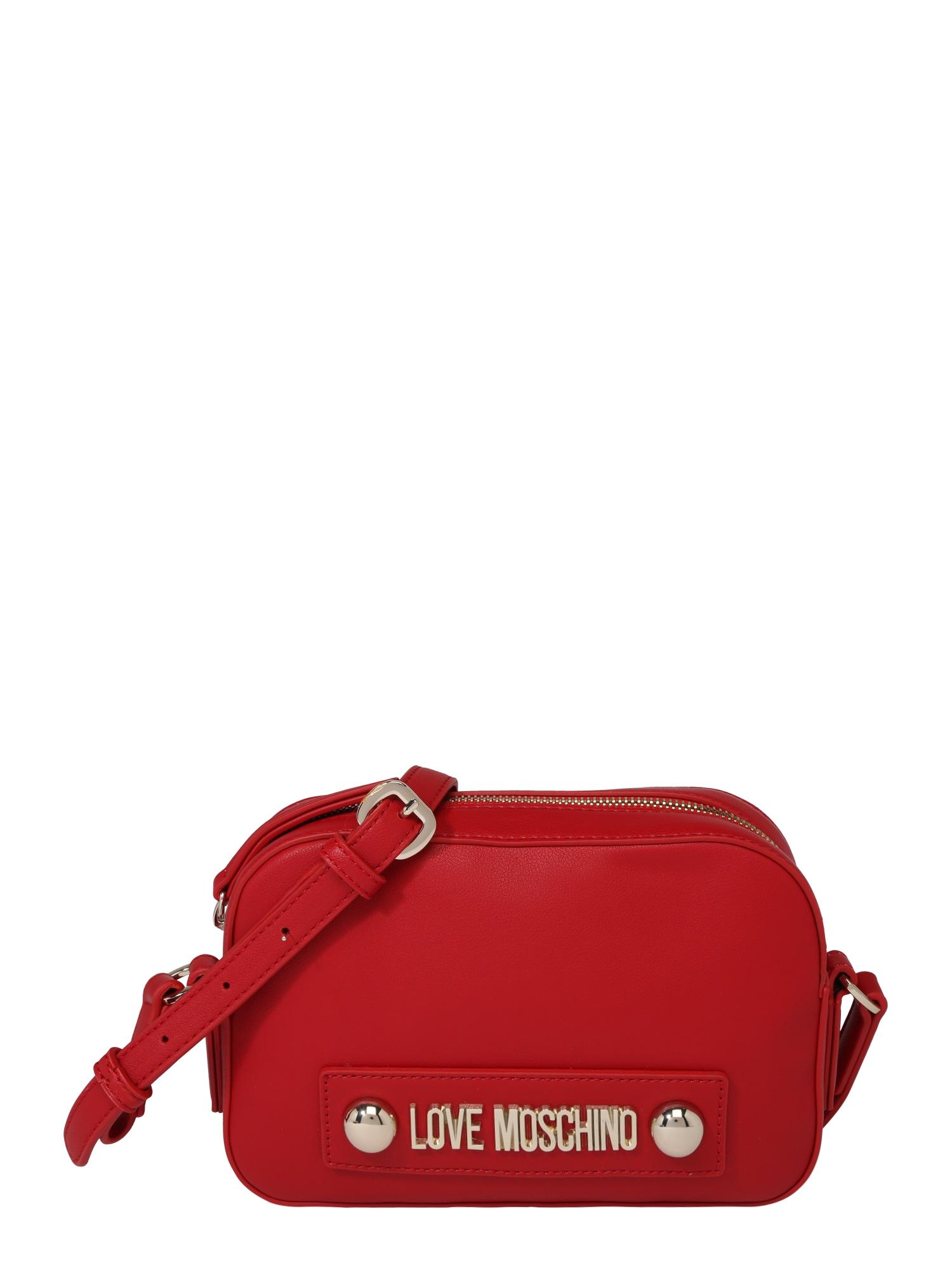 Kabelka BORSA NATURAL GRAIN PU ROSSO červená Love Moschino