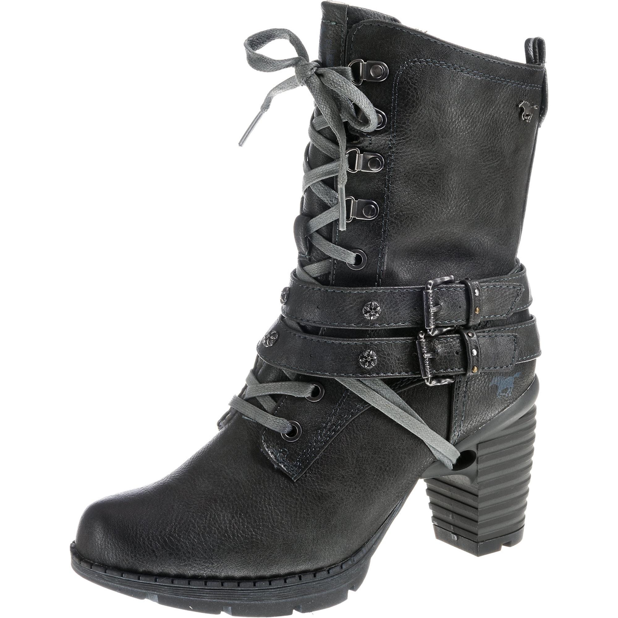 Šněrovací boty šedá MUSTANG
