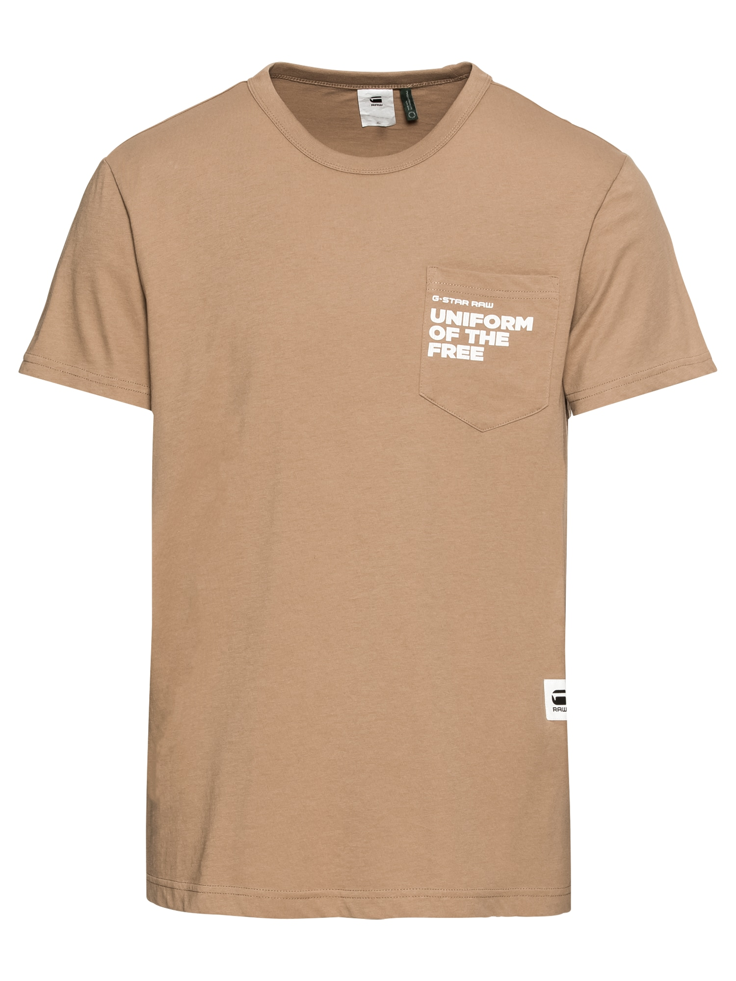 G-STAR RAW Heren Shirt Graphic 5 pocket r t ss camel
