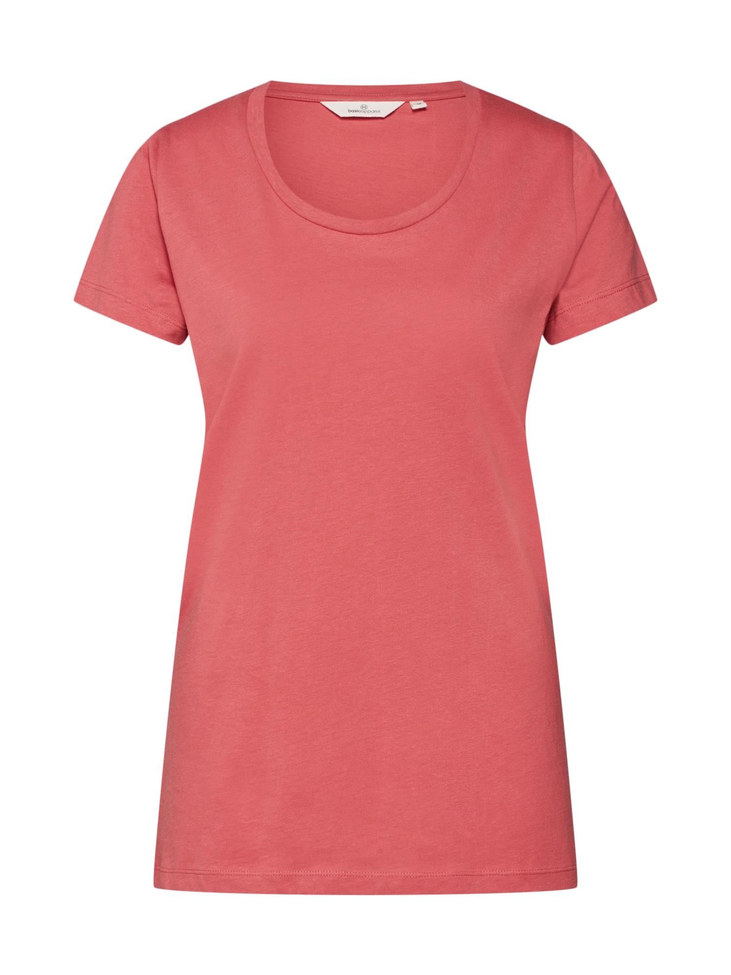 Tričko Rebekka červená Basic Apparel
