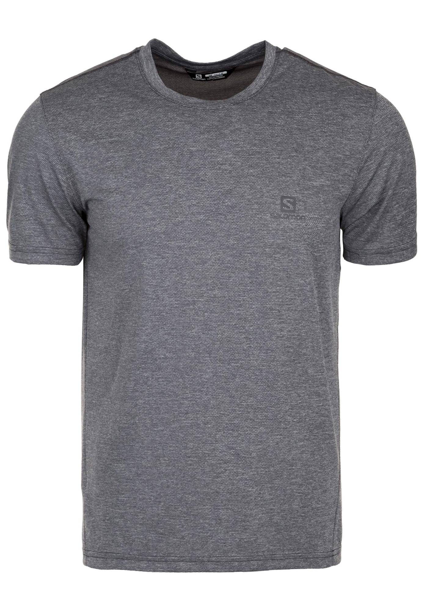Laufshirt 'Explore Pique' | Sportbekleidung > Sportshirts > Laufshirts | Dunkelgrau | SALOMON