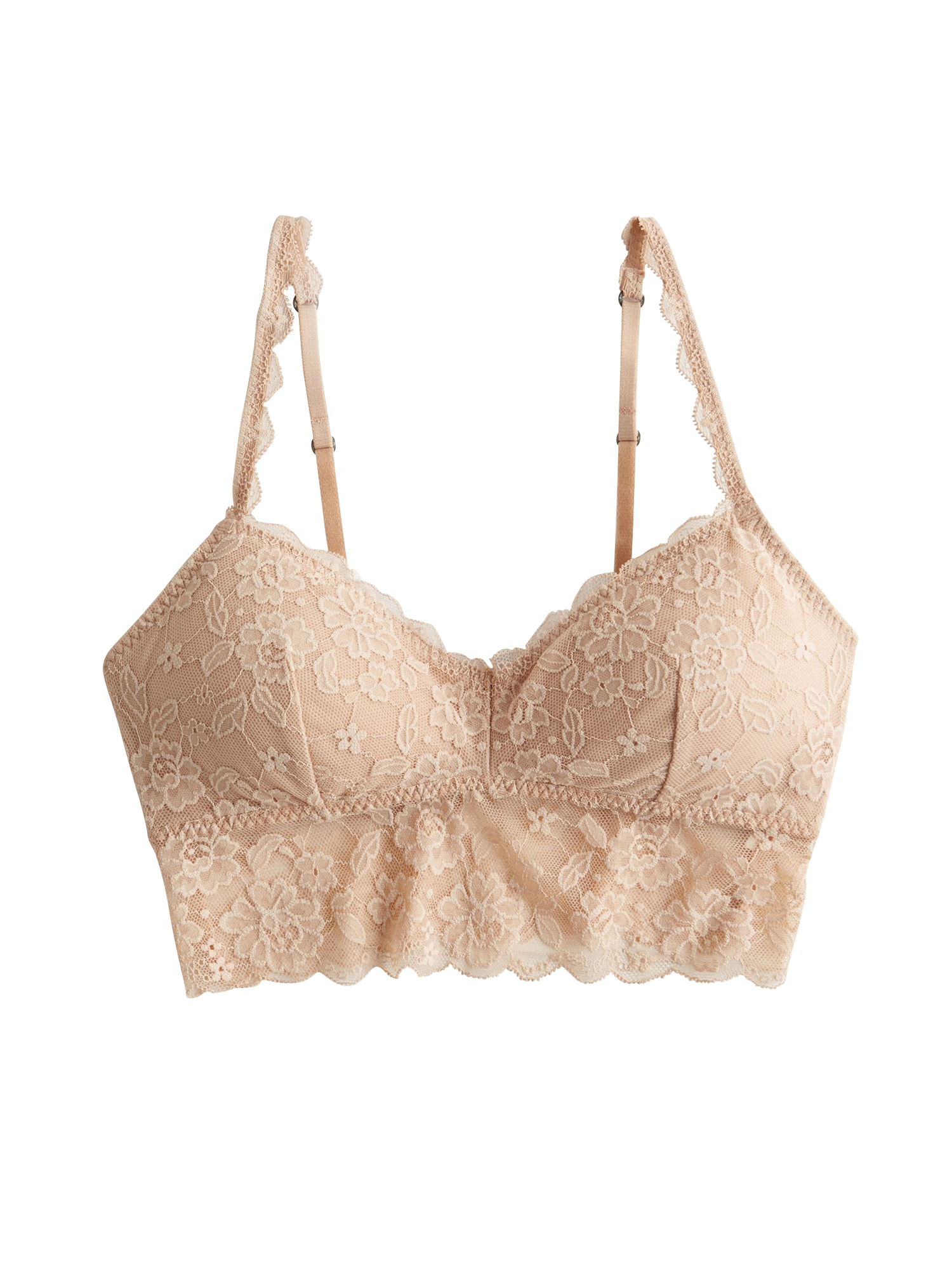 Podprsenka NEUTRAL CORE LONGLINE Bralette nude HOLLISTER