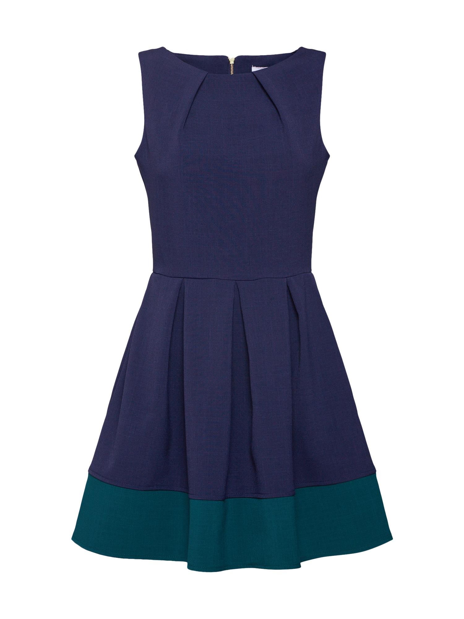 Koktejlové šaty námořnická modř zelená Closet London