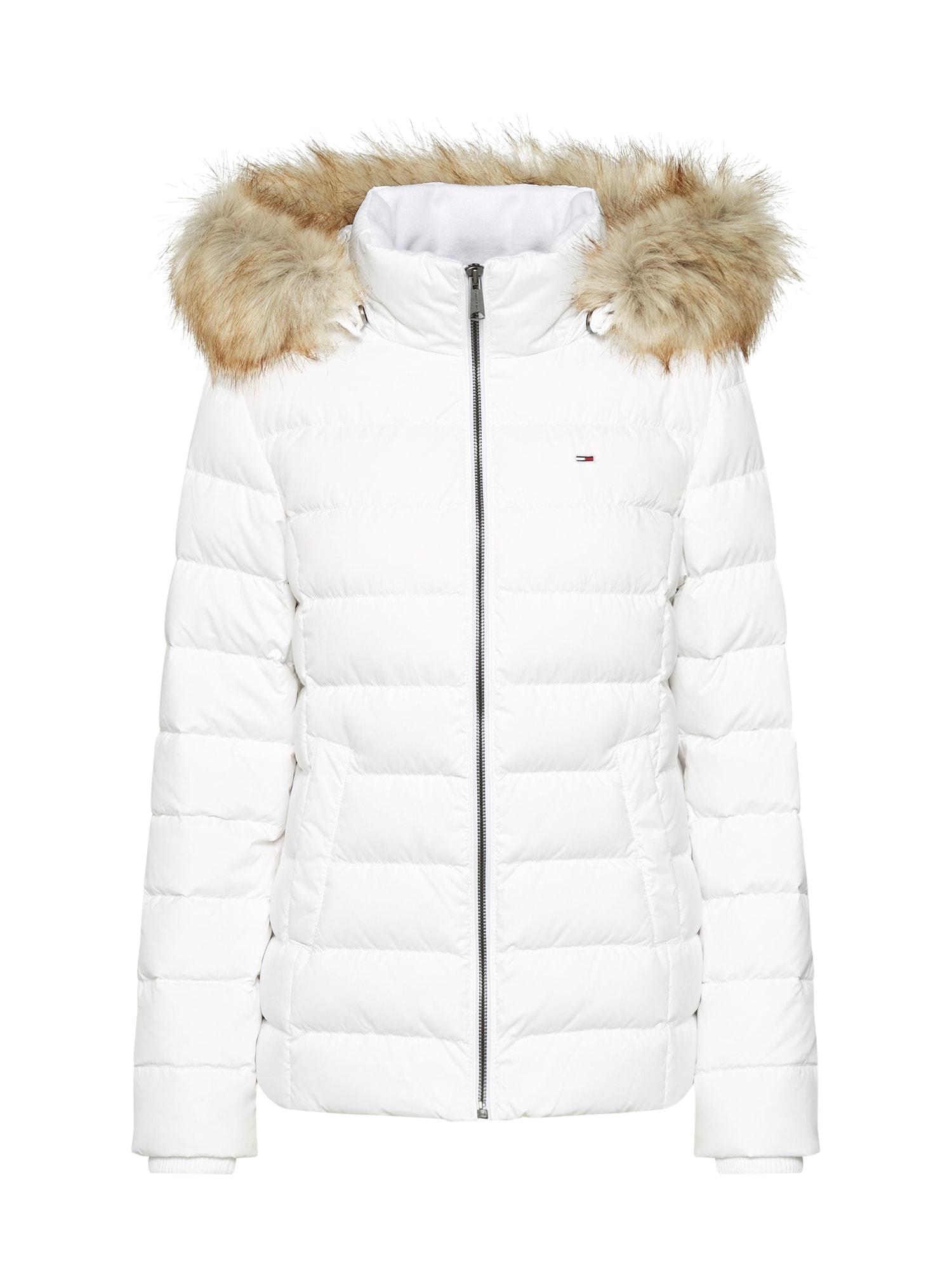Zimní bunda bílá Tommy Jeans