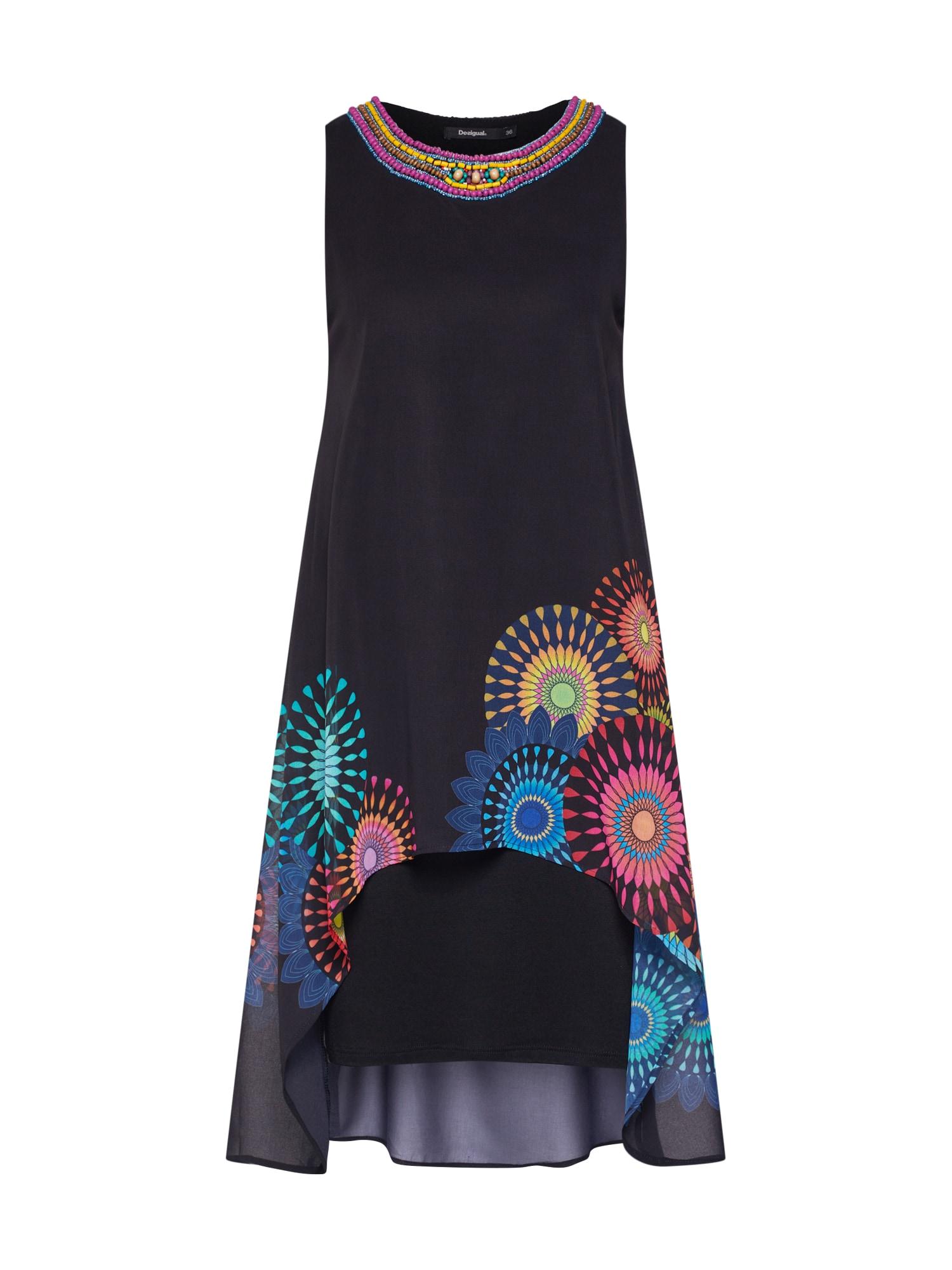 Šaty VEST_PORTIA mix barev černá Desigual