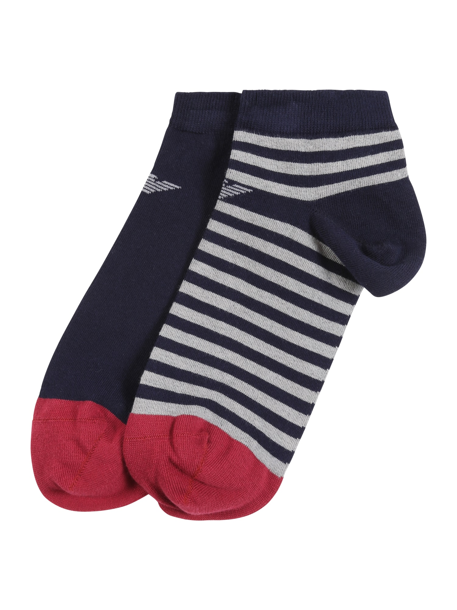Emporio Armani Ponožky 'SET 2PACK INSIDE'  sivá / modré