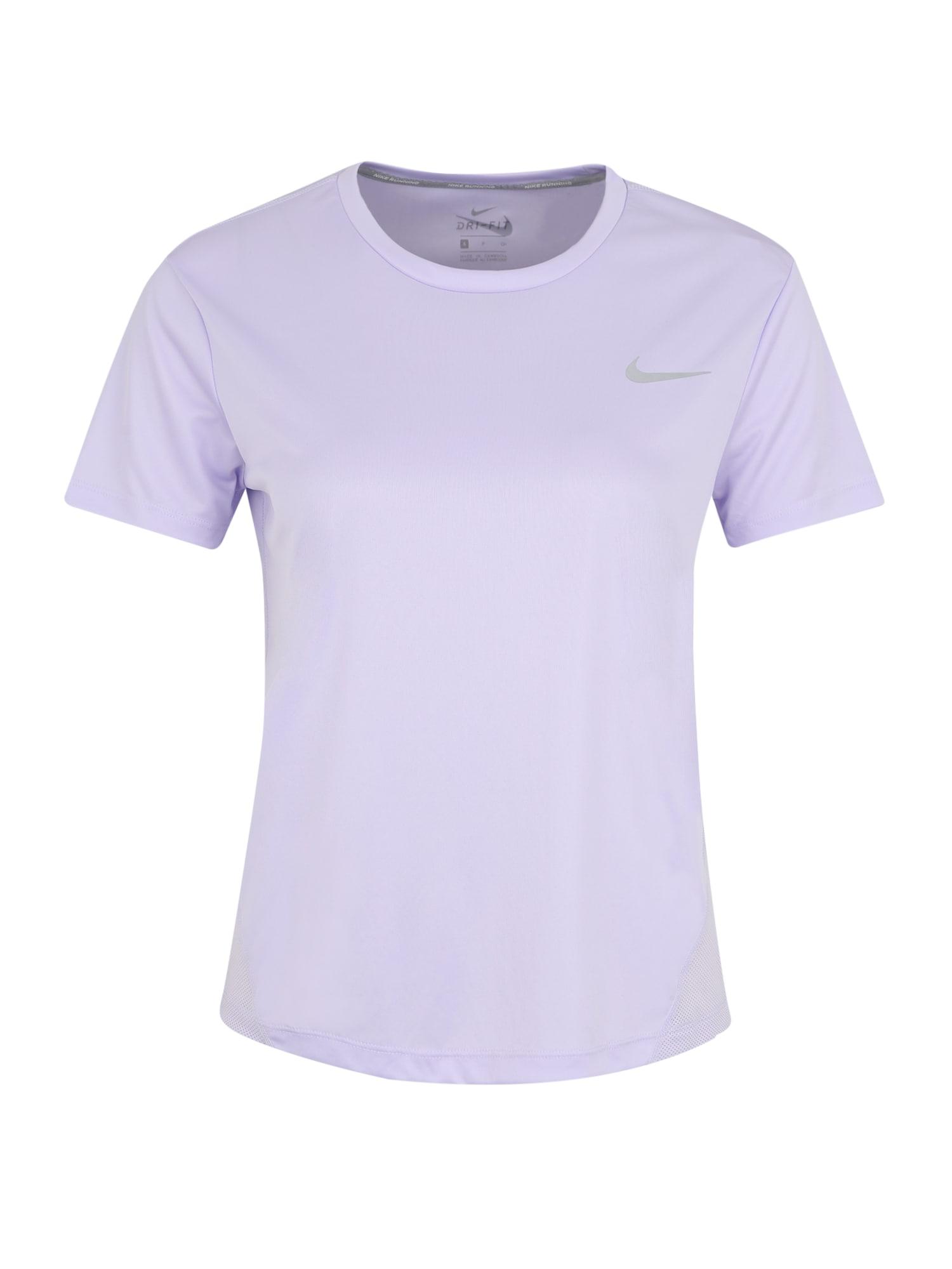 NIKE Funkčné tričko 'MILER'  levanduľová