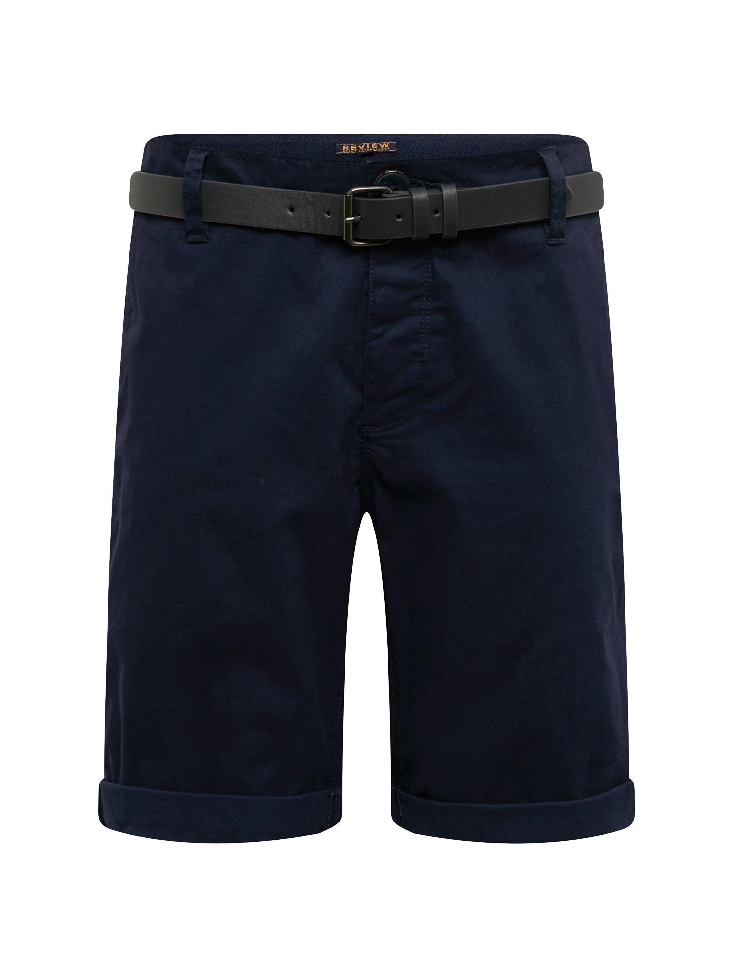 Chino kalhoty CHINO BASIC BELT námořnická modř Review