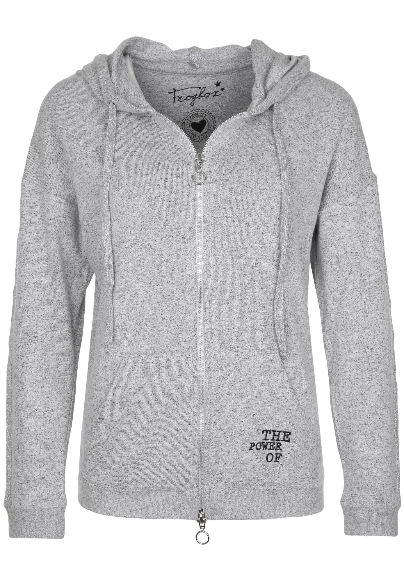 Sweatjacke mit Glitzerkordel und Strasssteinen   Bekleidung > Sweatshirts & -jacken   Frogbox
