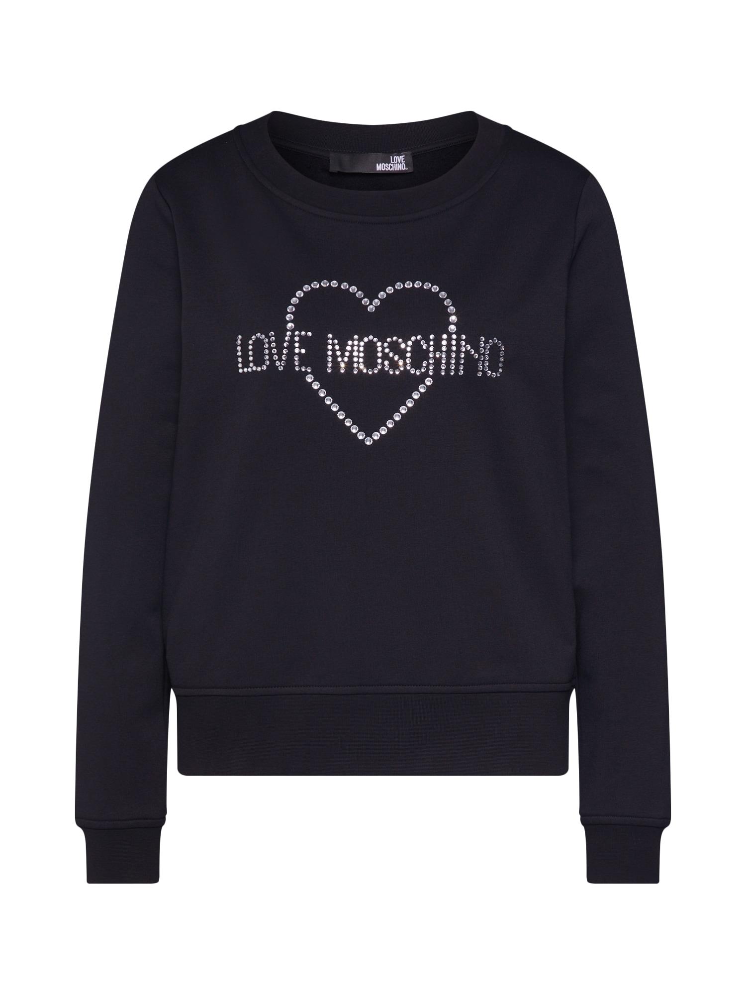 Mikina FELPA GIROCOLLO CON černá Love Moschino