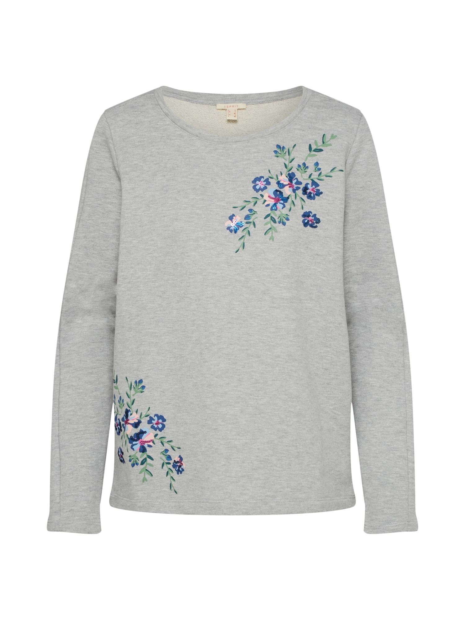 ESPRIT, Dames Sweatshirt 'Terry L7s AW Sweatshirts', grijs gemleerd