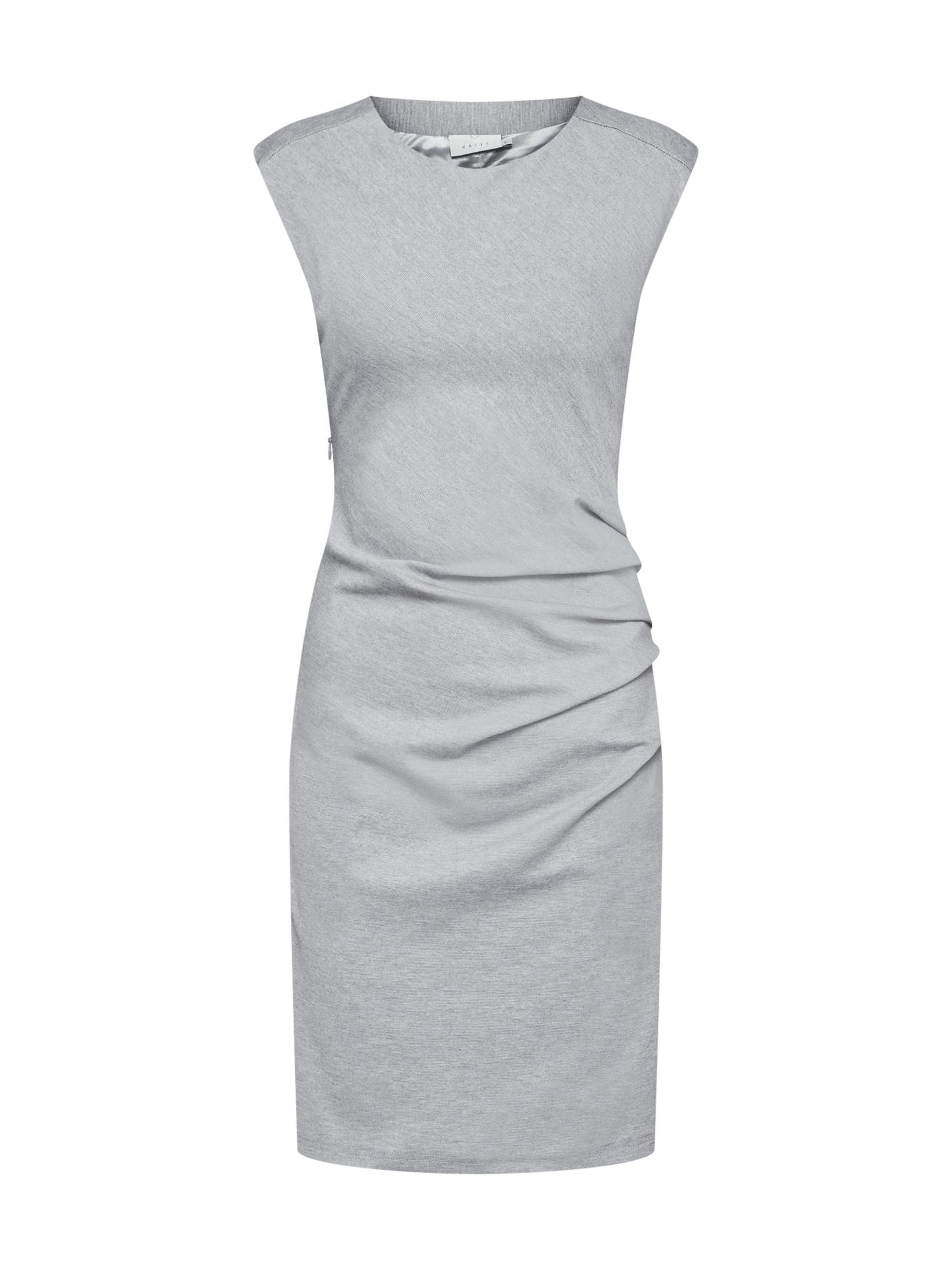 Pouzdrové šaty India Slim šedý melír Kaffe
