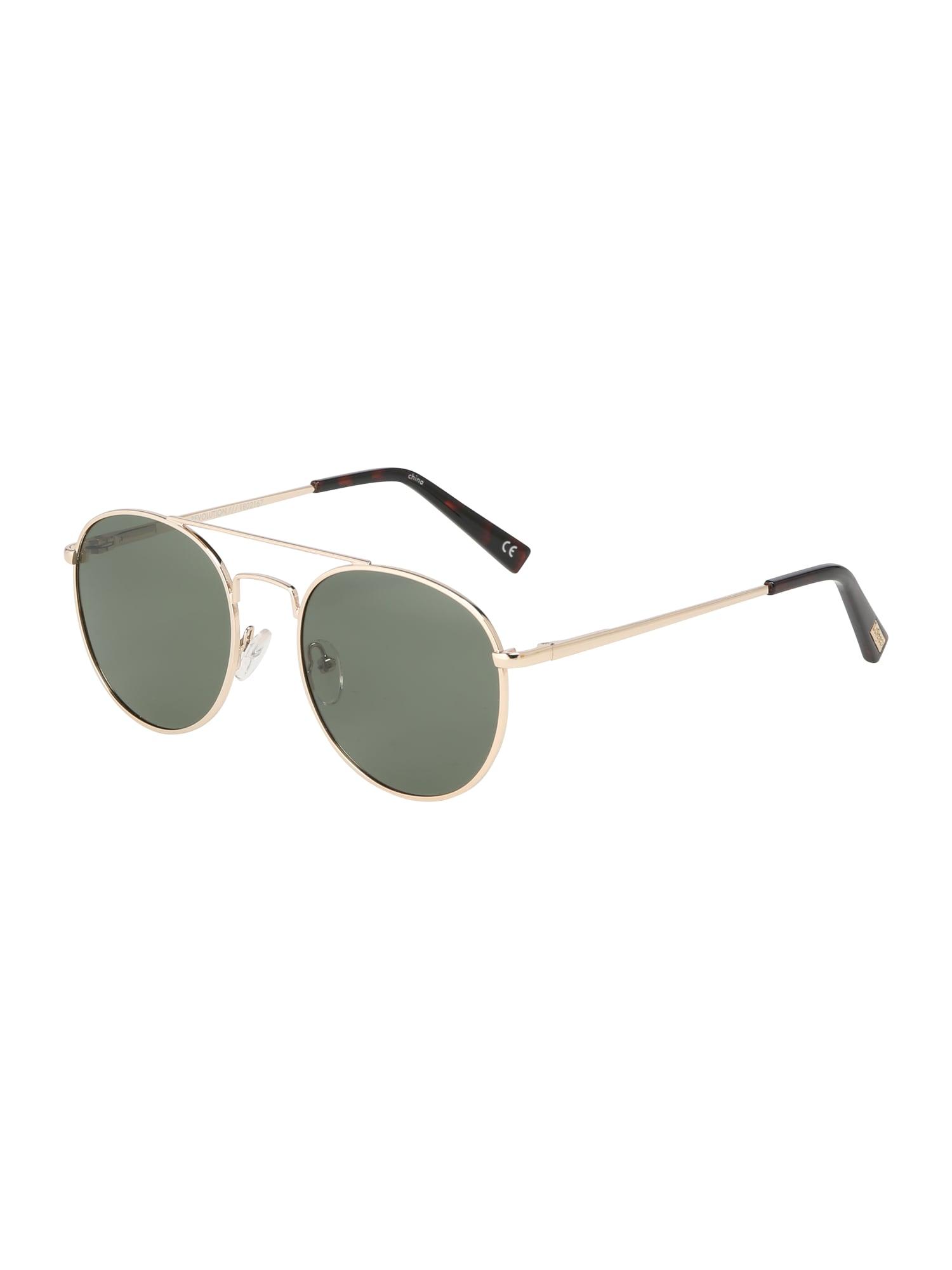 Sluneční brýle Revolution zlatá khaki LE SPECS