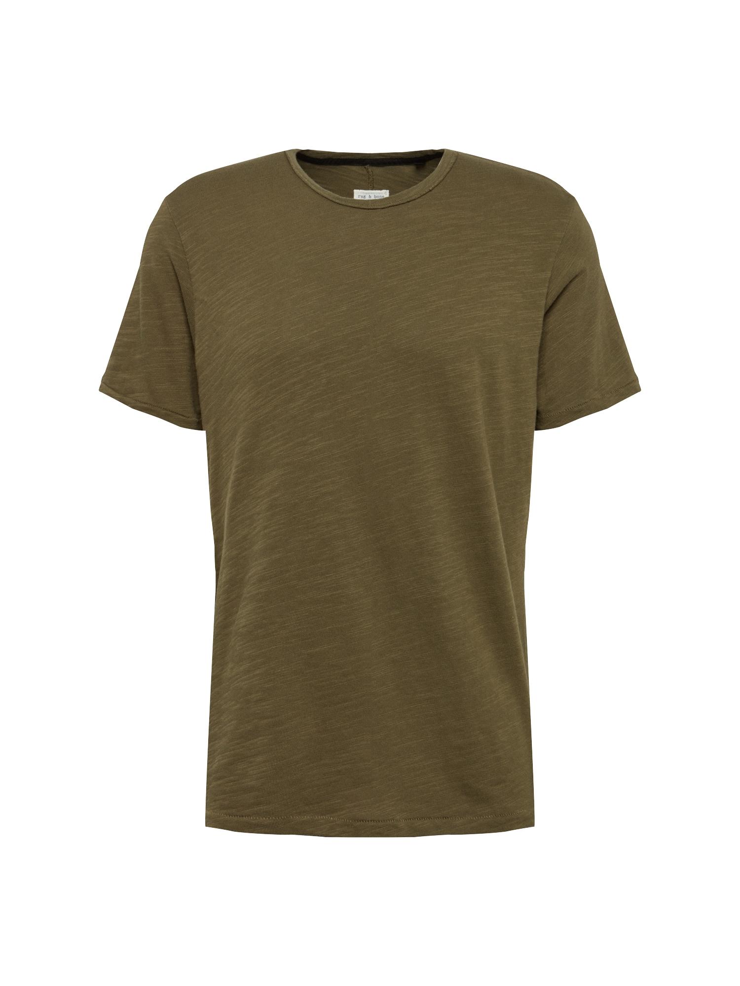 Tričko RGB CLASSIC TEE olivová Rag & Bone