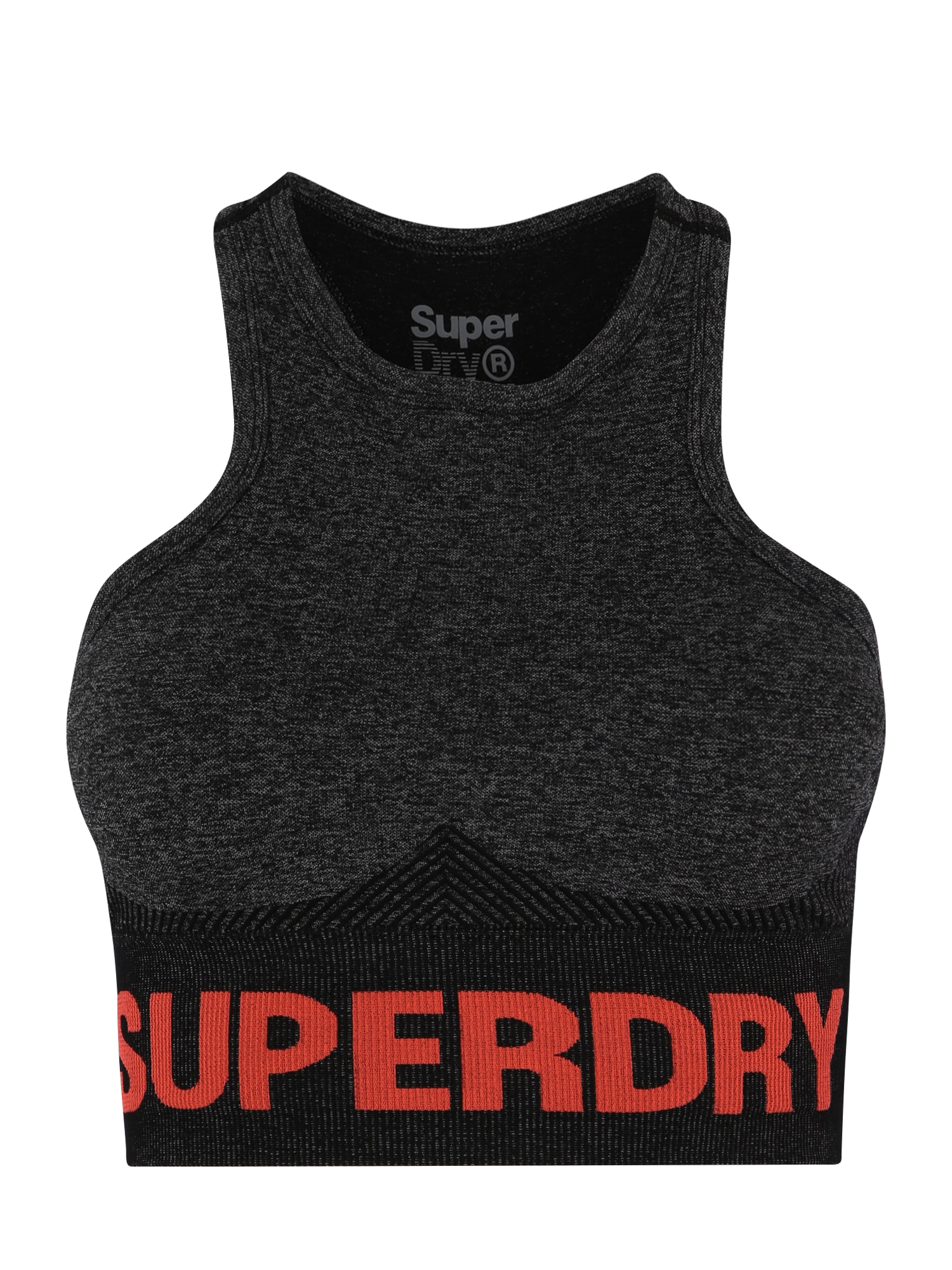 Sportovní podprsenka šedý melír červená Superdry
