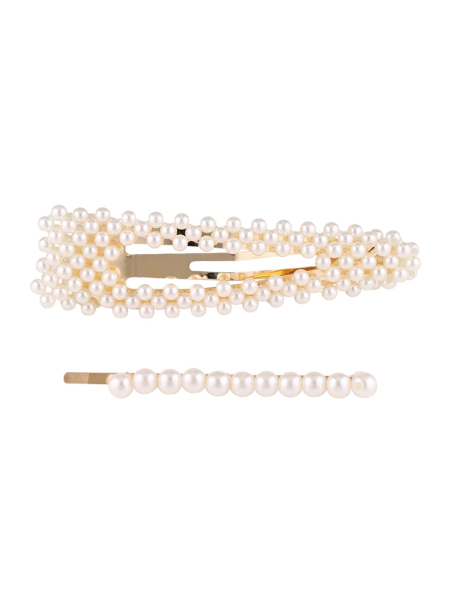 Šperky do vlasů Ocean Pearl Clip Silver Single Pearl Needle bílá perlově bílá We Are Flowergirls