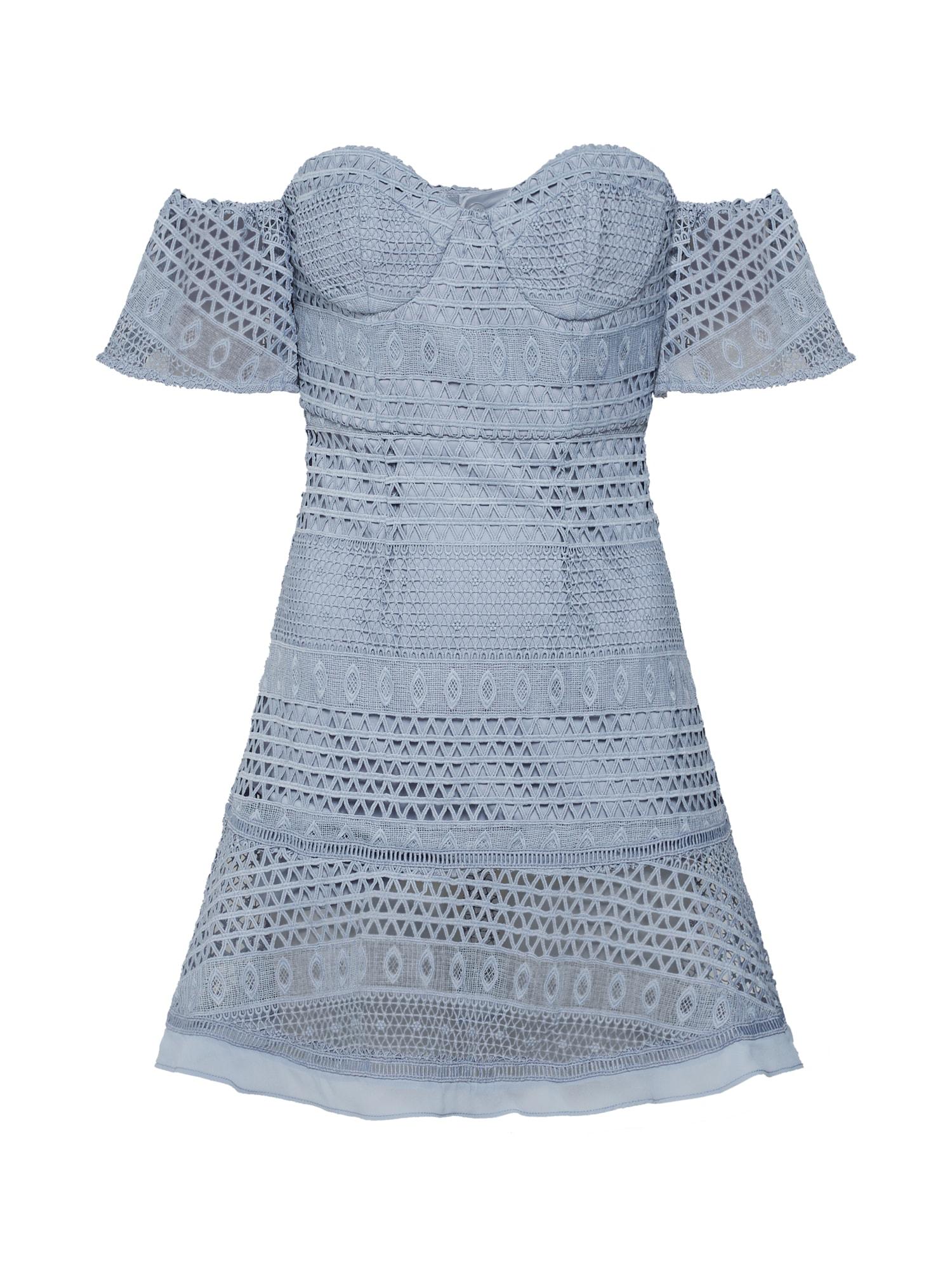 Koktejlové šaty Lucille modrá Bardot