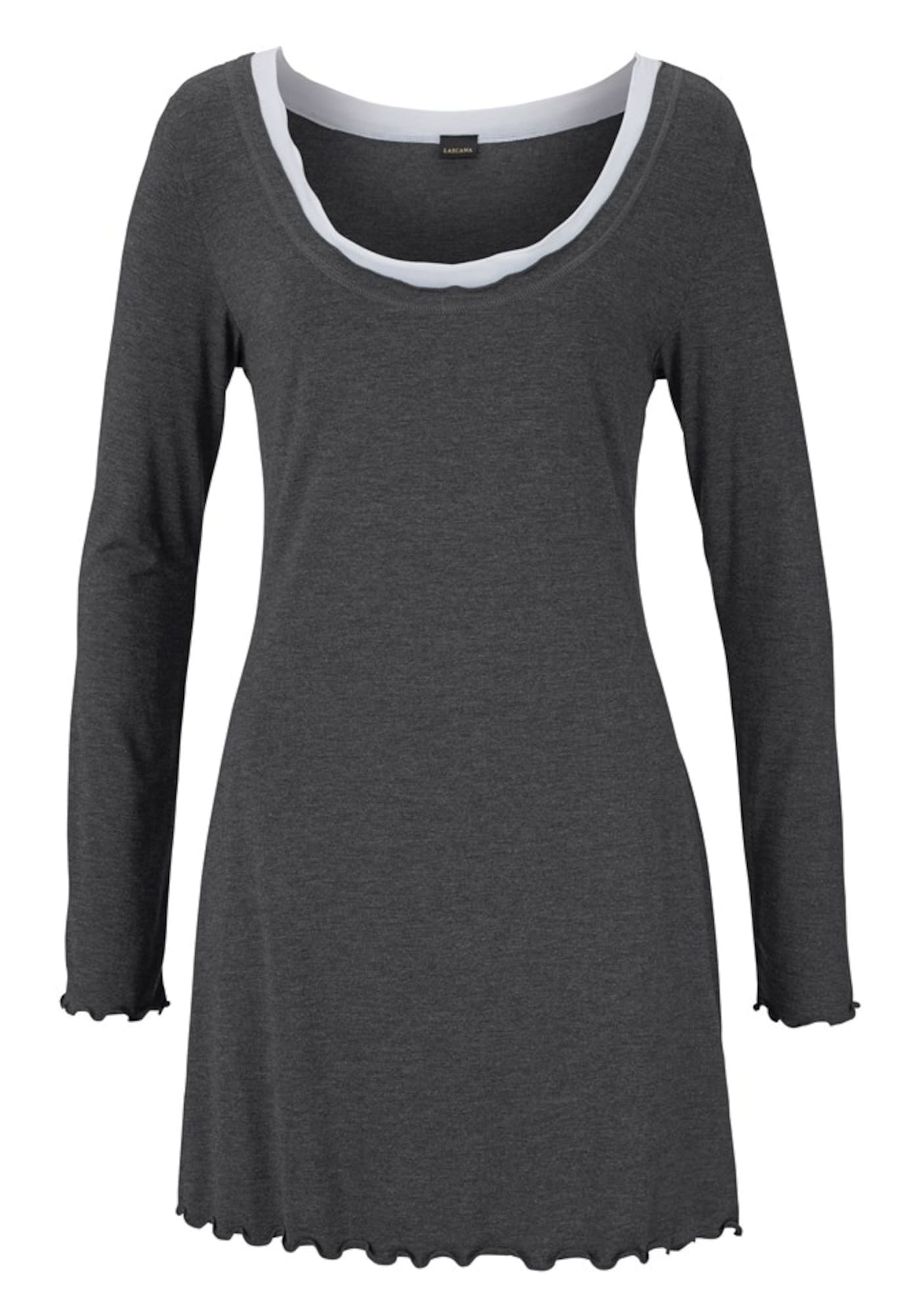 Hochwertiges Nachthemd im Layerdesign | Bekleidung > Nachtwäsche > Nachthemden | Weiß | Lascana