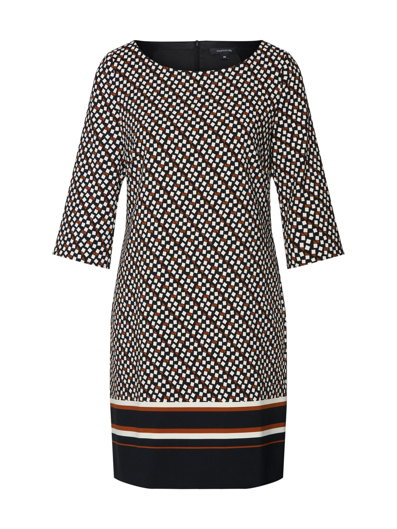 Pouzdrové šaty burgundská červeň černá přírodní bílá COMMA