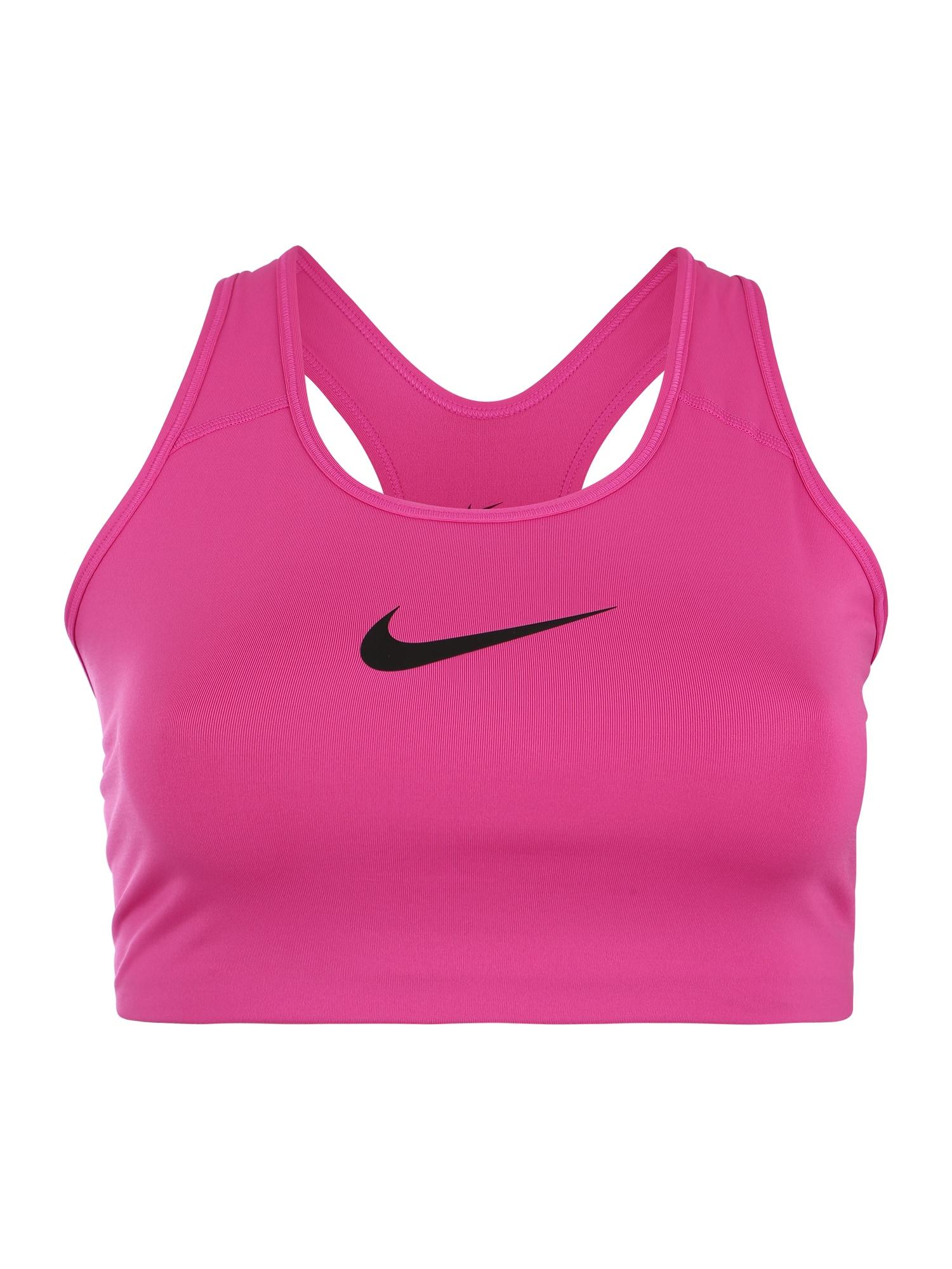 Sportovní podprsenka Swoosh pink černá NIKE