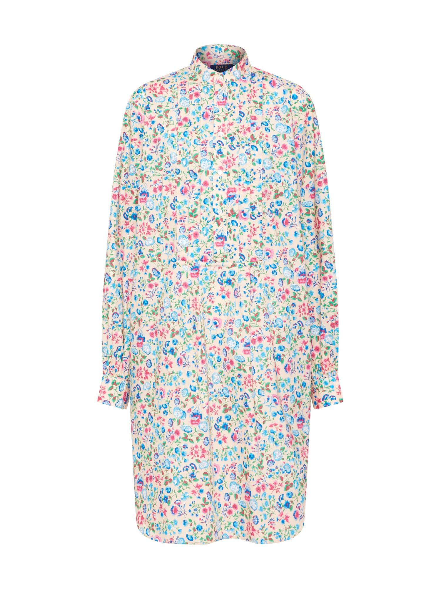 Košilové šaty SIENA béžová mix barev POLO RALPH LAUREN