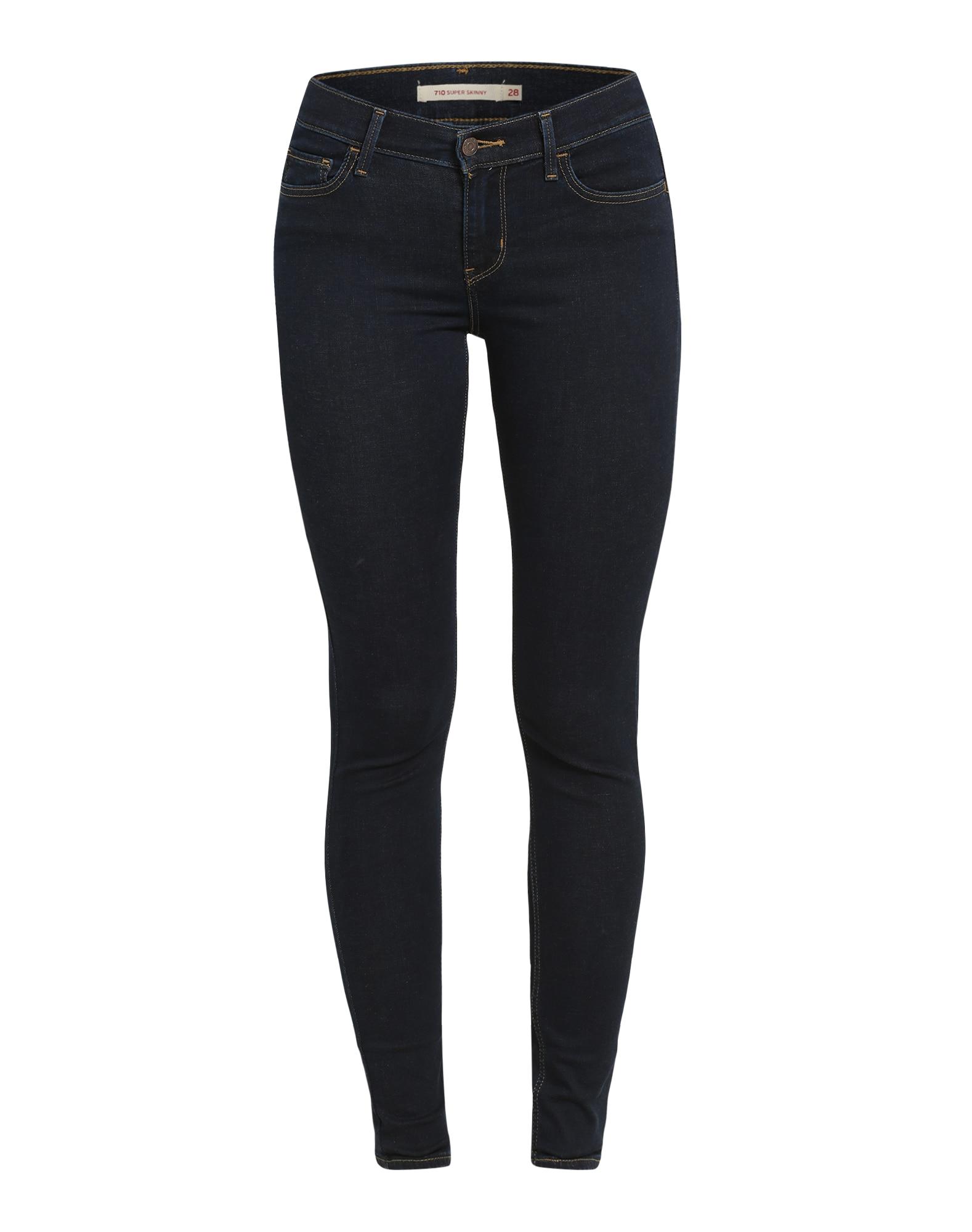 LEVI'S Dames Jeans 710 Innovation Super Skinny blue denim