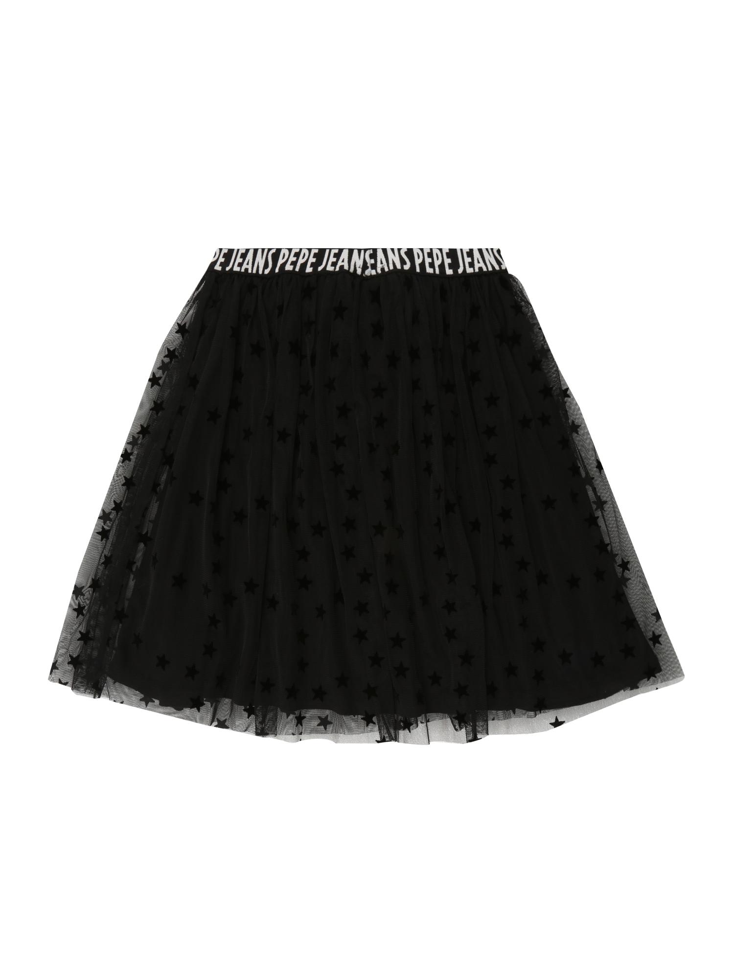Pepe Jeans, Meisjes Rok 'SHELLY', zwart / wit
