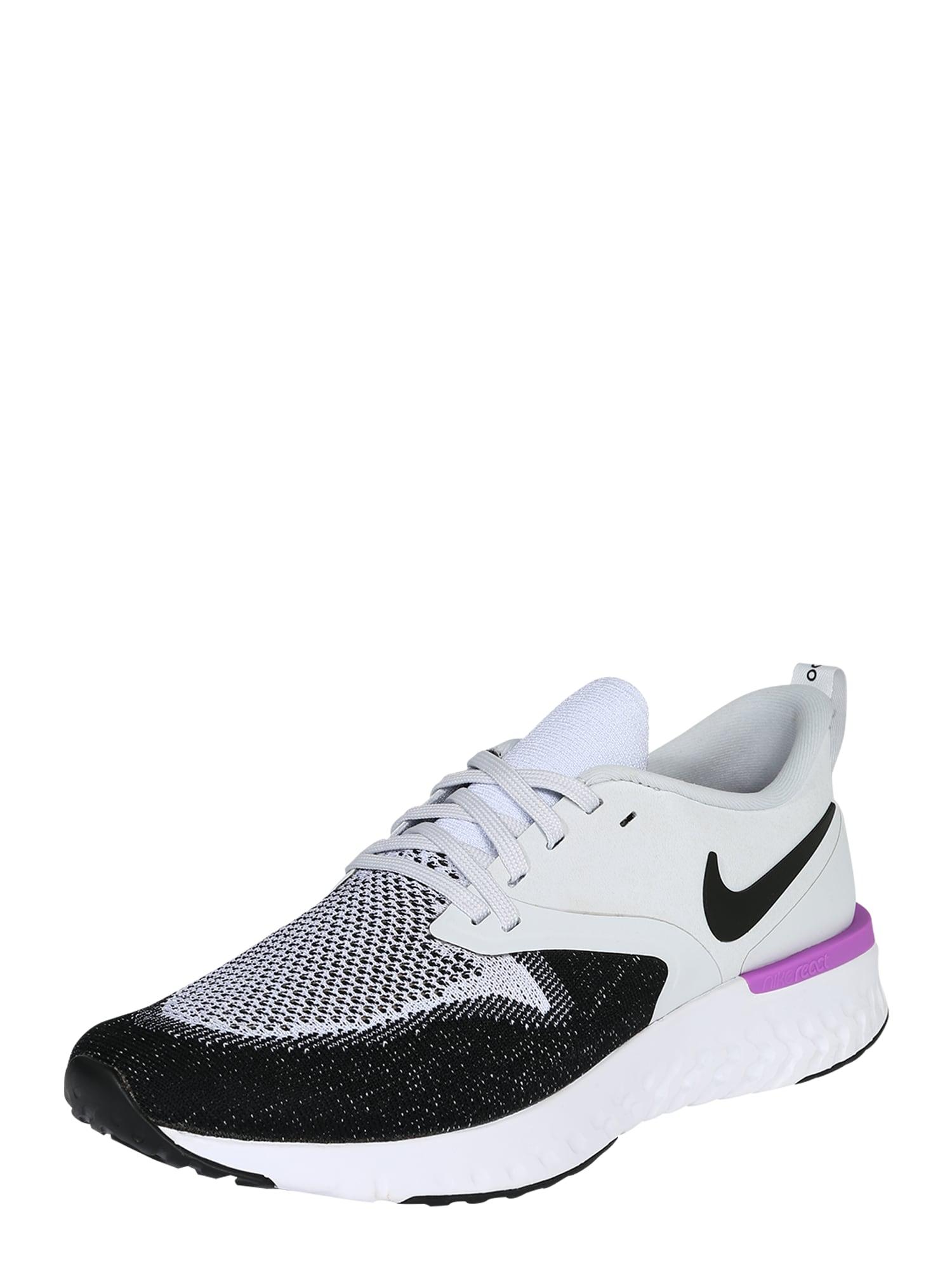 Běžecká obuv Odyssey React Flyknit 2 fialová černá bílá NIKE