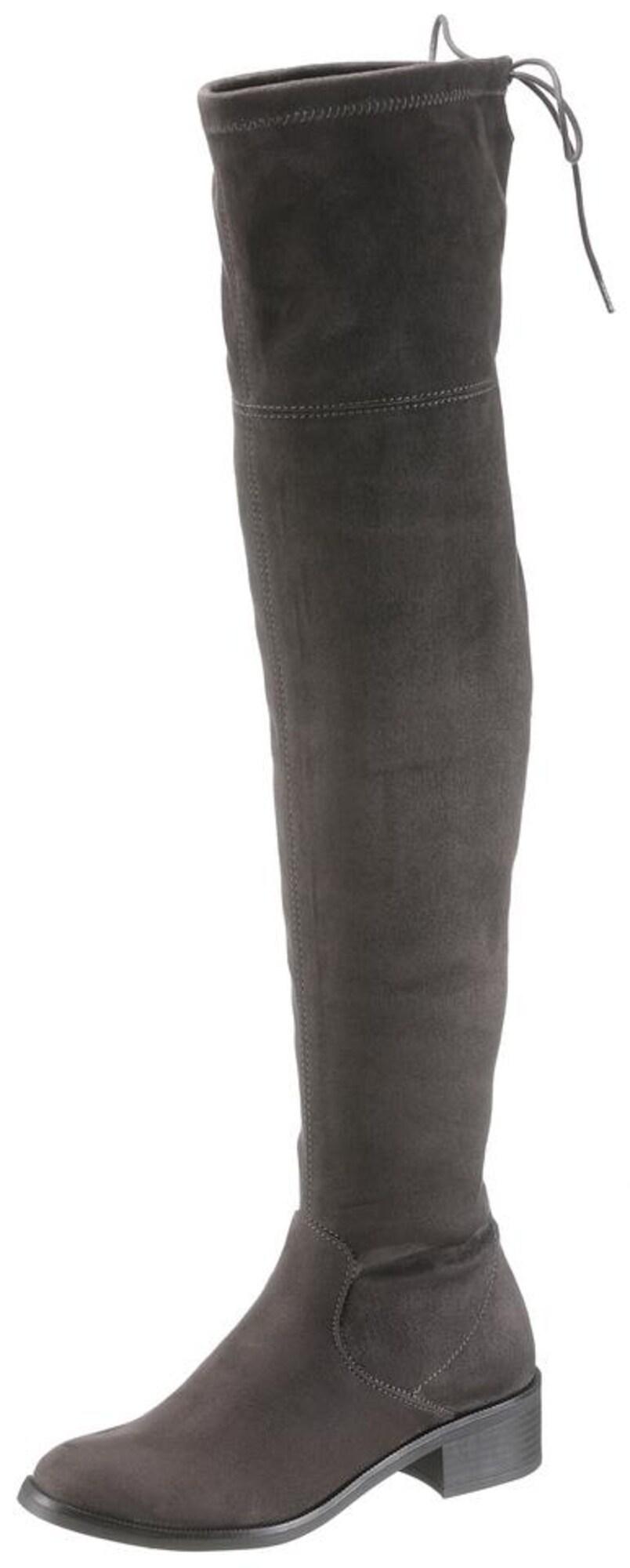 Kozačky nad kolena tmavě šedá S.Oliver RED LABEL