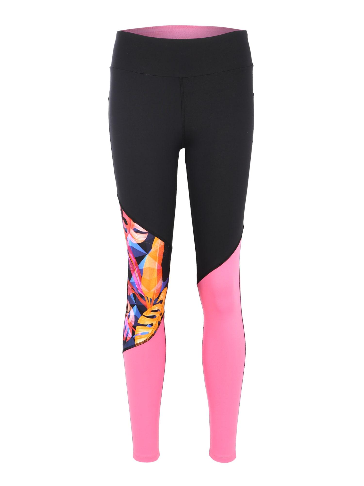 Sportovní kalhoty Panther Block Pink mix barev pink černá Hey Honey