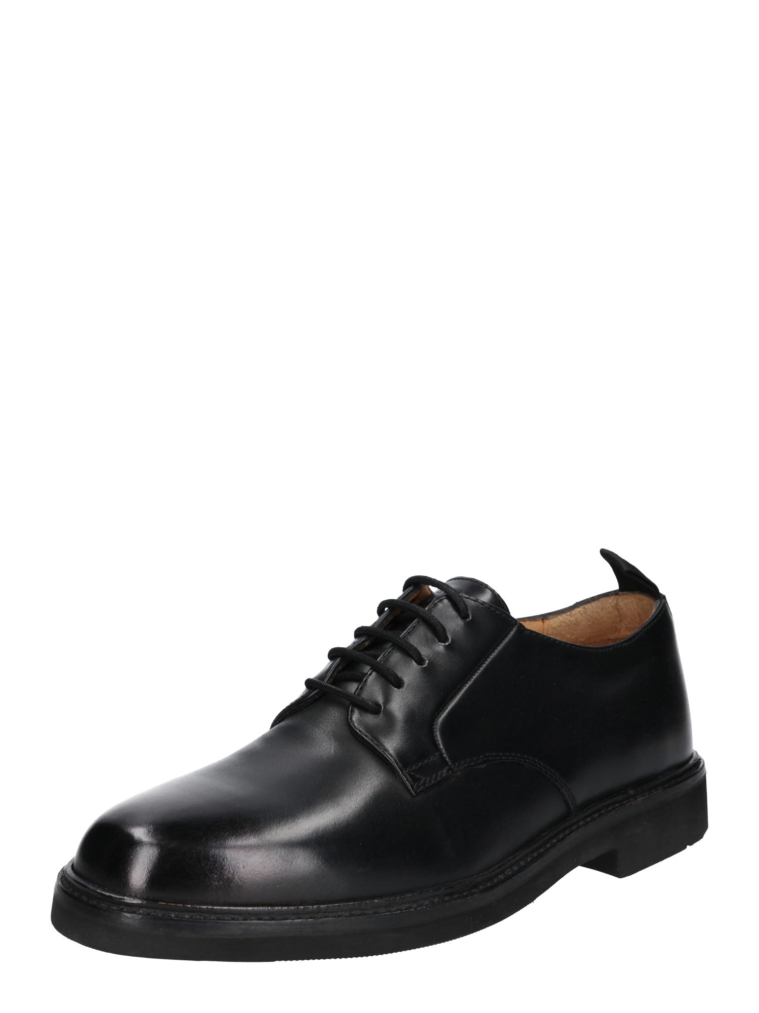 Šněrovací boty Sennen leather černá Hudson London