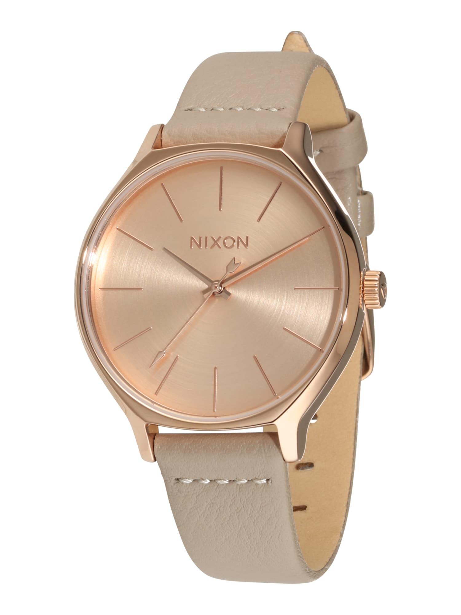 Analogové hodinky Clique tmavě béžová bronzová Nixon