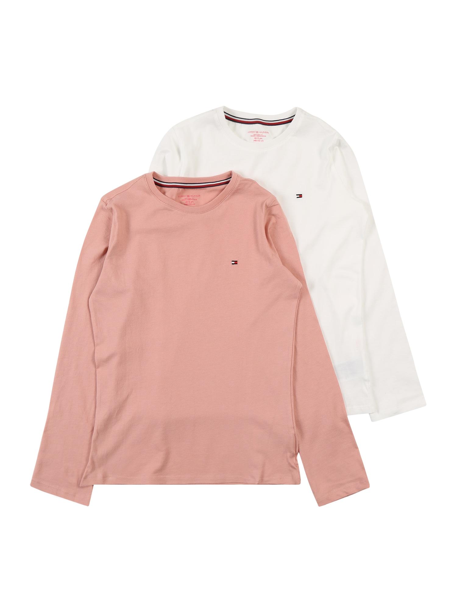Tommy Hilfiger Underwear Koszula nocna  różowy pudrowy / biały