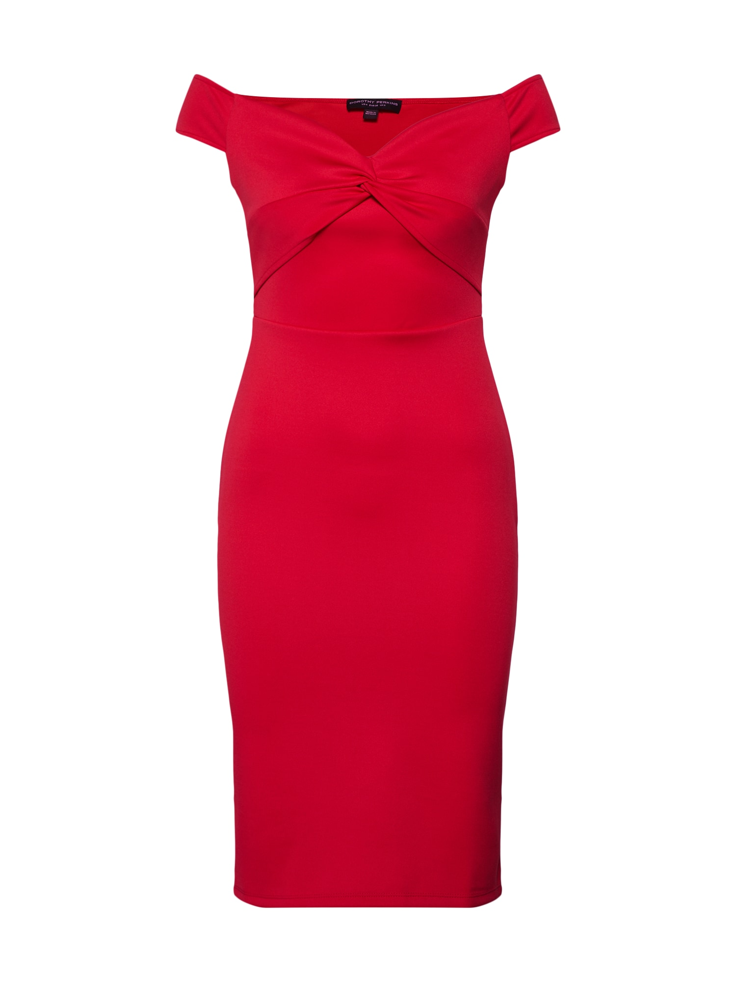 Šaty BARDOT TWIST SCUBA PENCIL červená Dorothy Perkins