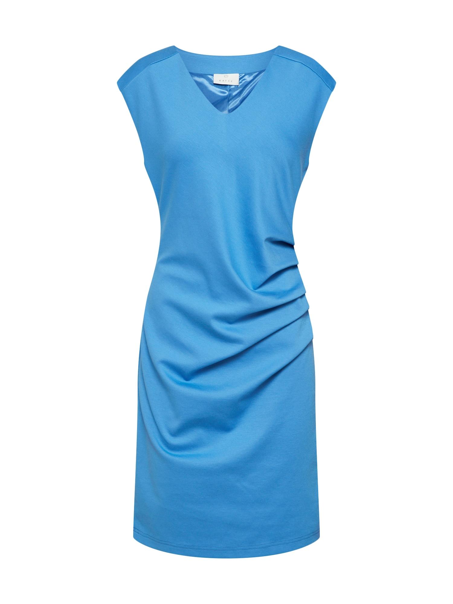 Pouzdrové šaty India kouřově modrá Kaffe