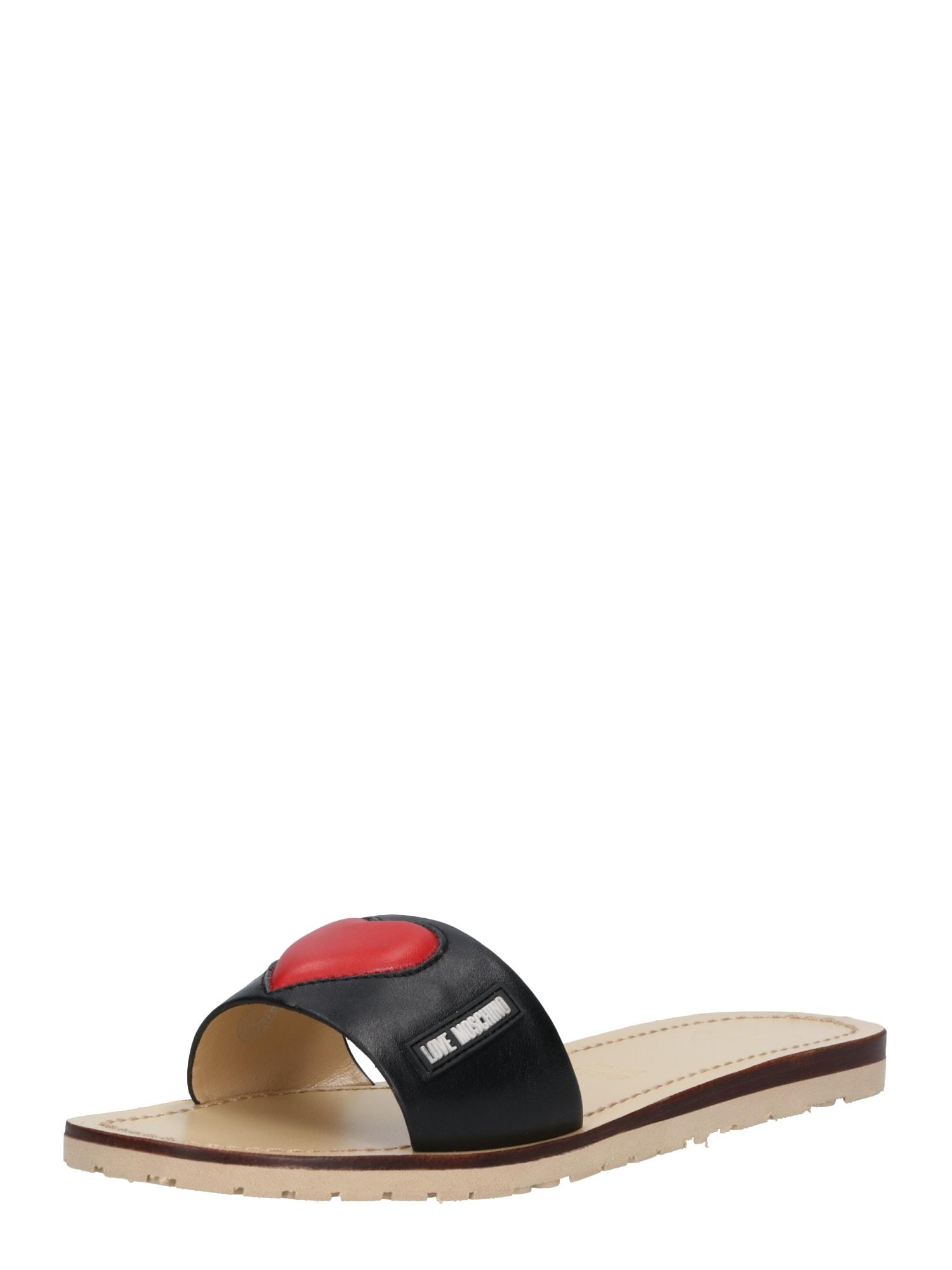 Pantofle JA28111G07 JB1 00A černá Love Moschino
