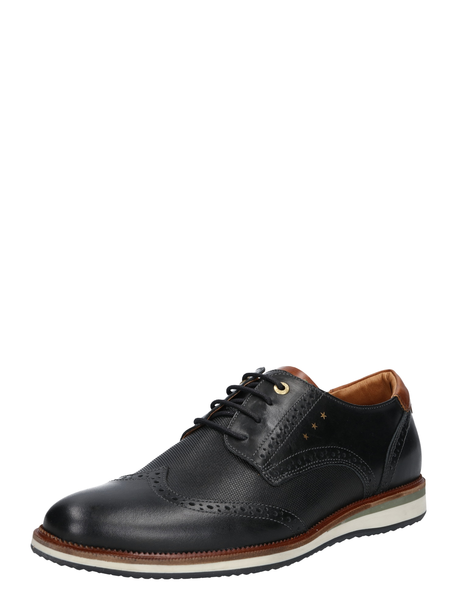 PANTOFOLA DORO Šněrovací boty béžová rezavě hnědá zlatá černá PANTOFOLA D'ORO