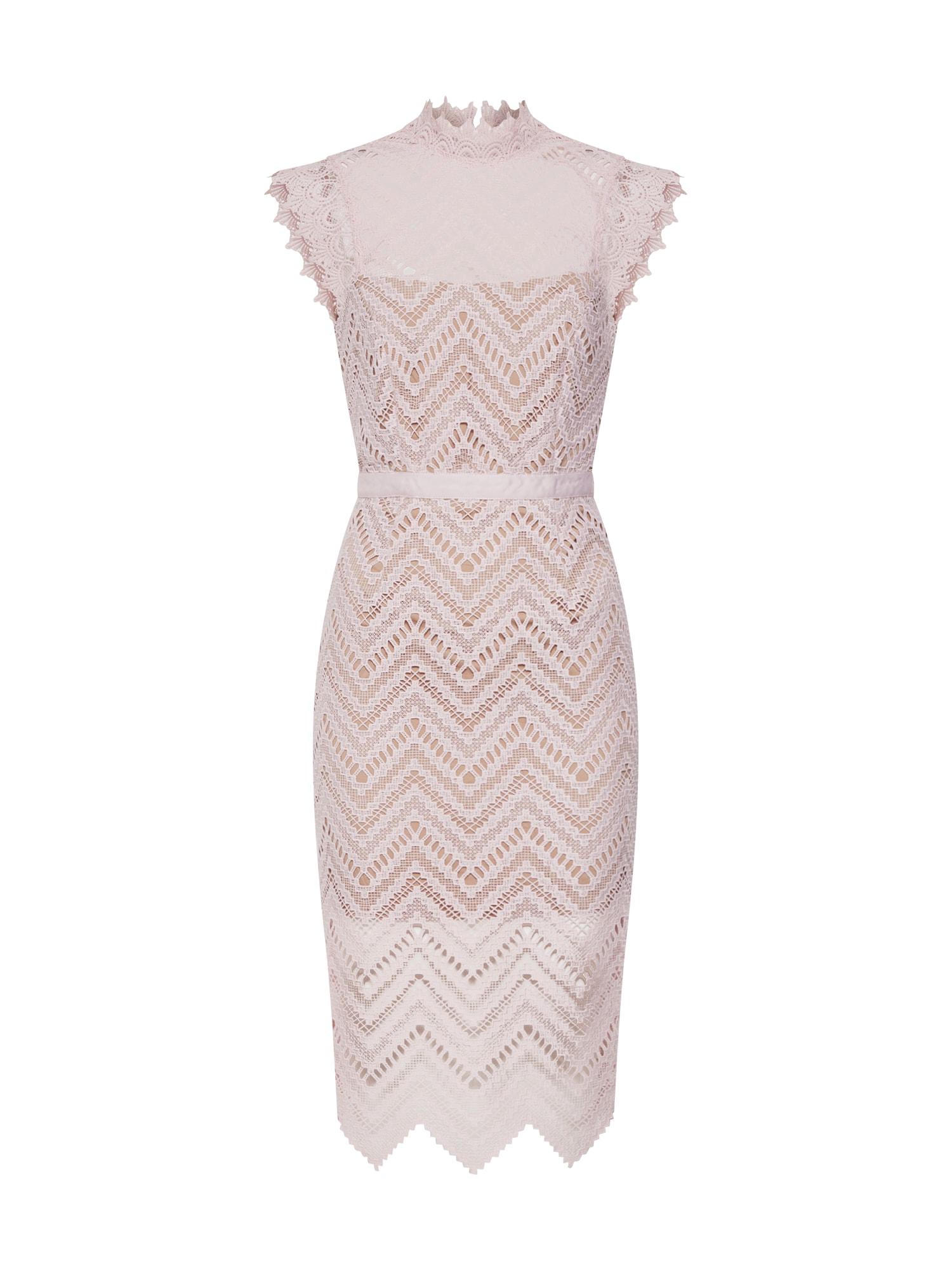Koktejlové šaty Imogen Lace Dress pink Bardot
