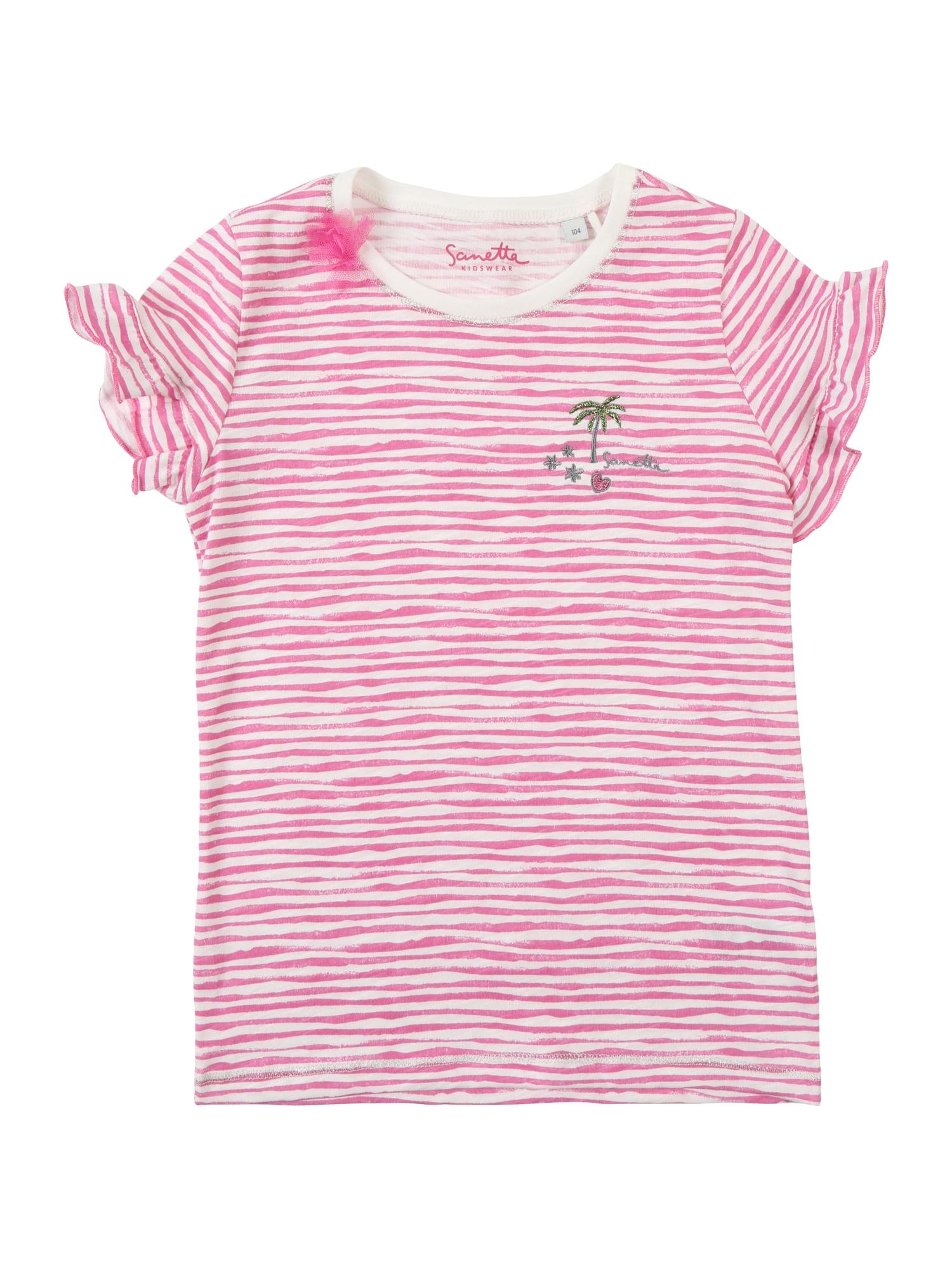 Tričko slonová kost starorůžová Sanetta Kidswear