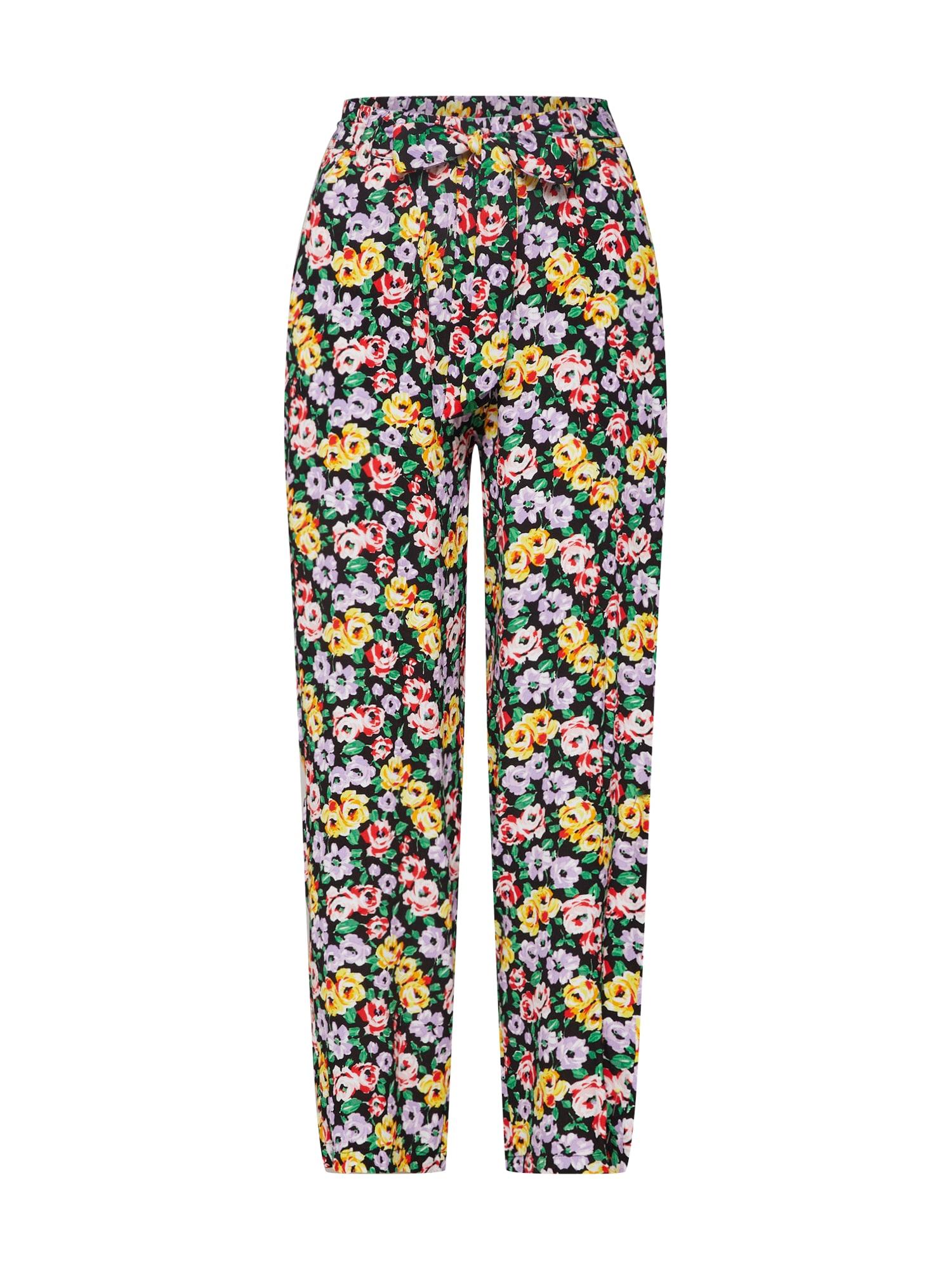 Kalhoty se sklady v pase Amie mix barev Mbym