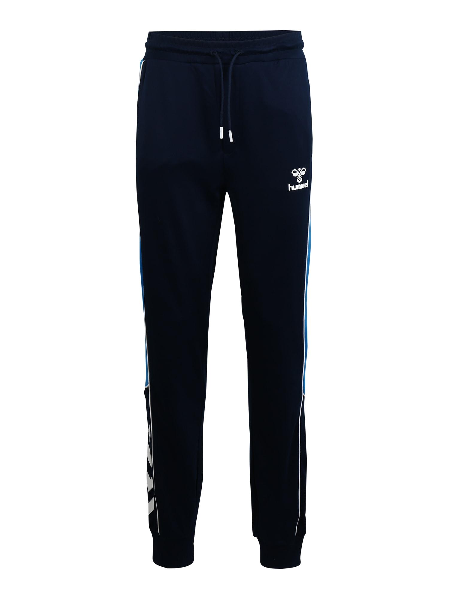 Hummel Sportovní kalhoty 'LIAM'  aqua modrá / tmavě modrá