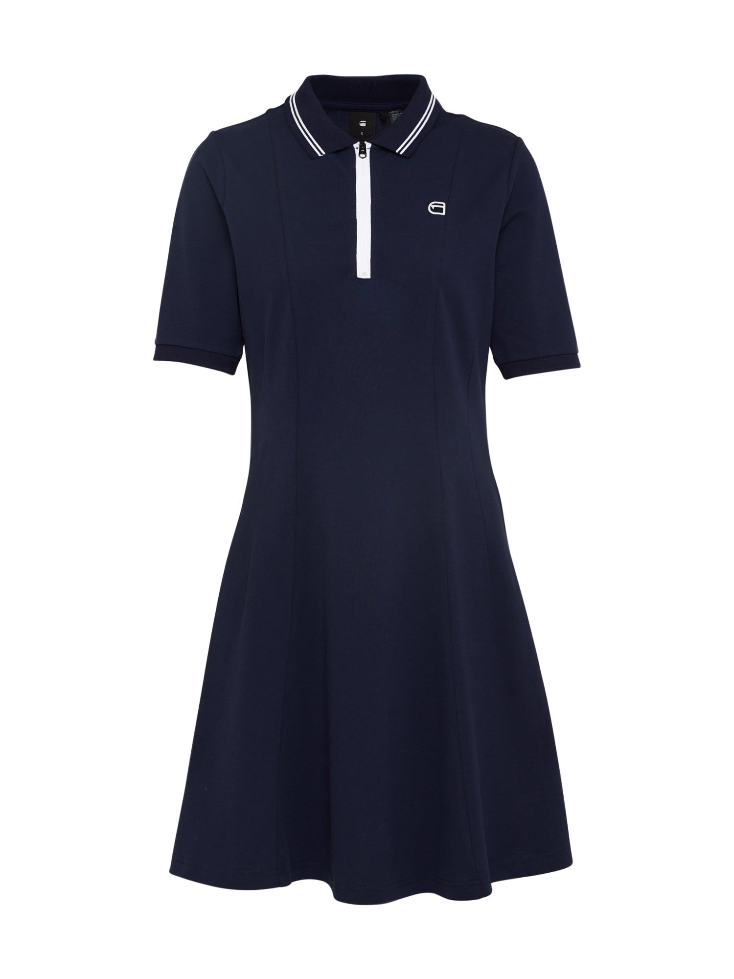 G-STAR RAW Dames Jurk Polo flare dress navy