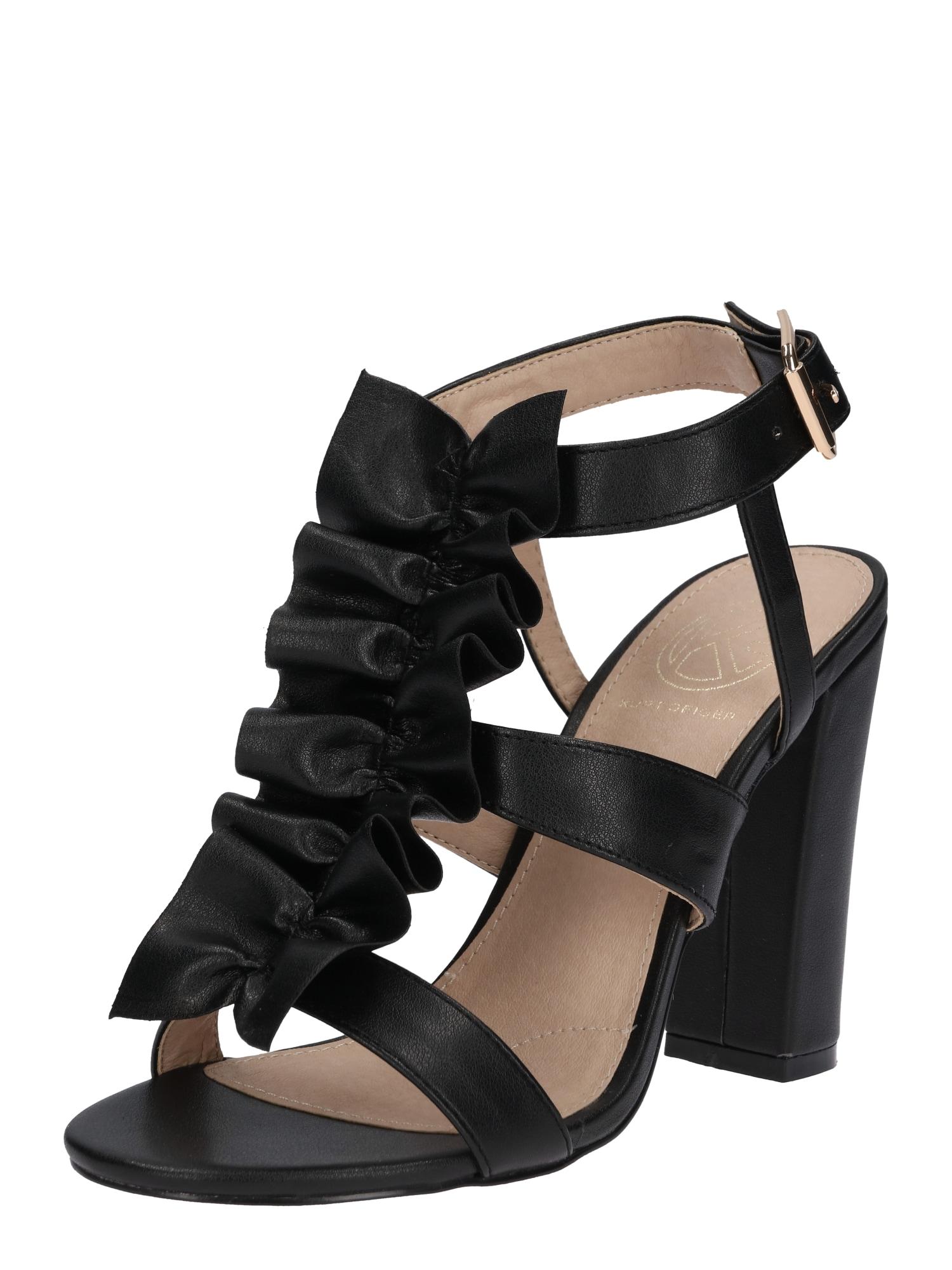 Páskové sandály FLISS černá Miss KG