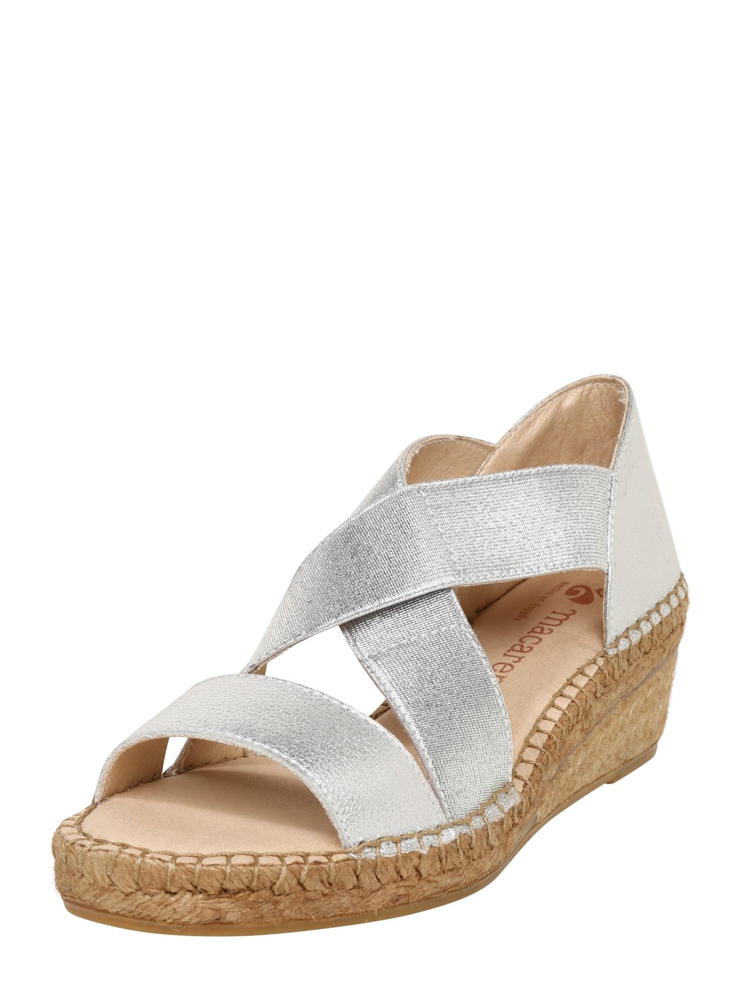Sandály LUNA 84 béžová stříbrná MACARENA