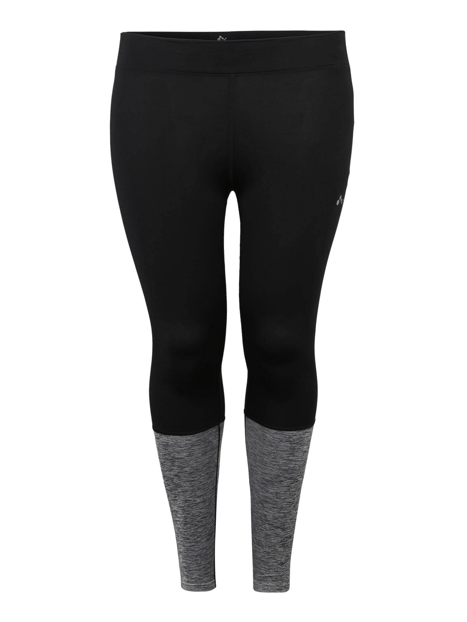 Sportovní kalhoty onpHANA TRAINING TIGHTS CURVY černá Only Play Curvy