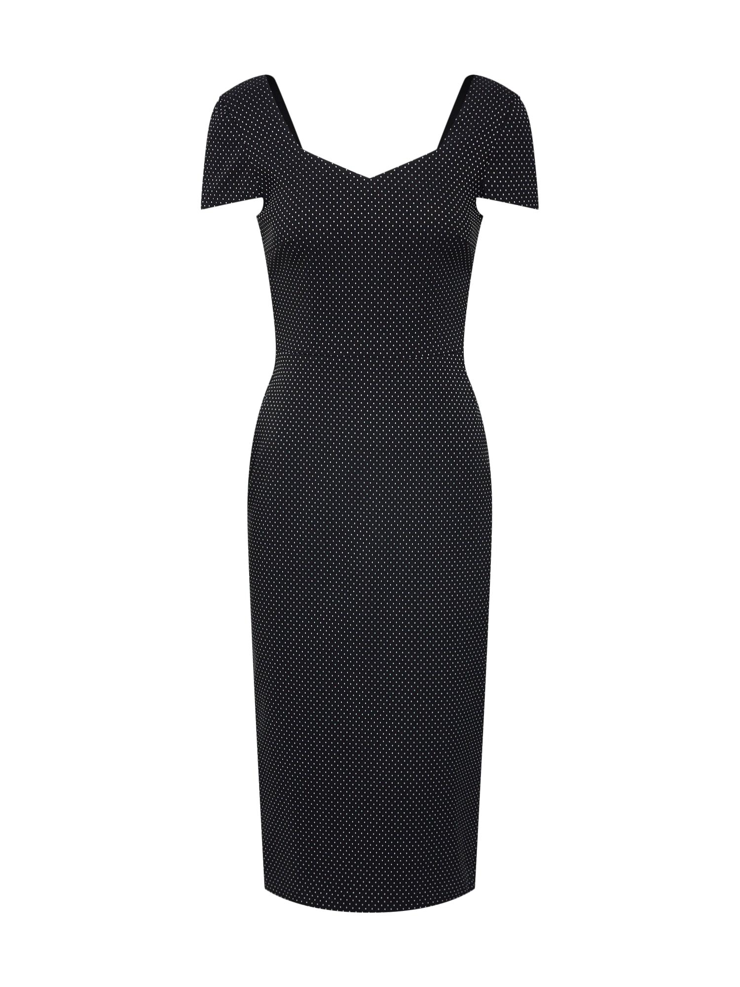 Pouzdrové šaty BENGA černá bílá Dorothy Perkins