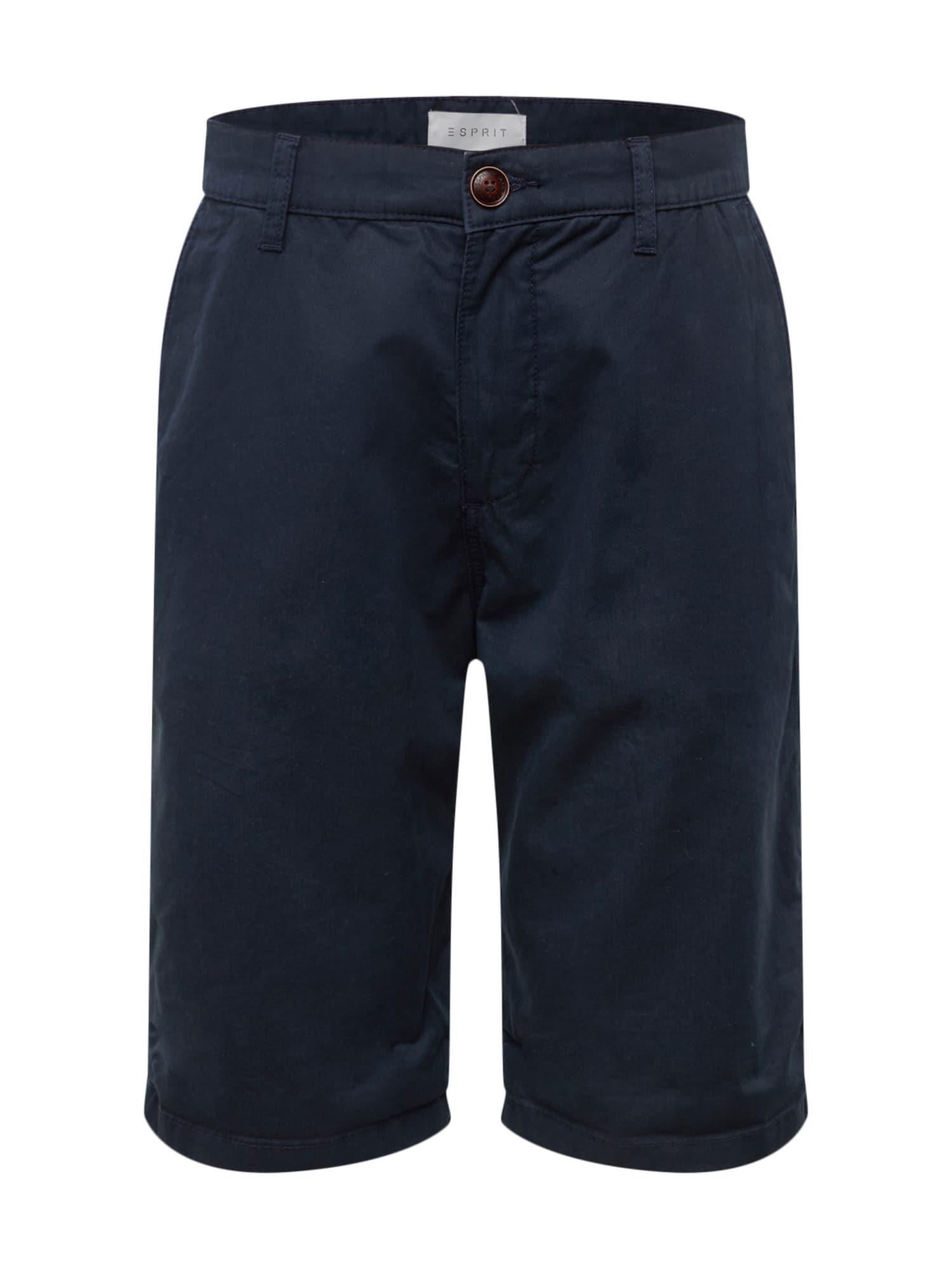Chino kalhoty Basic Twill SH námořnická modř ESPRIT