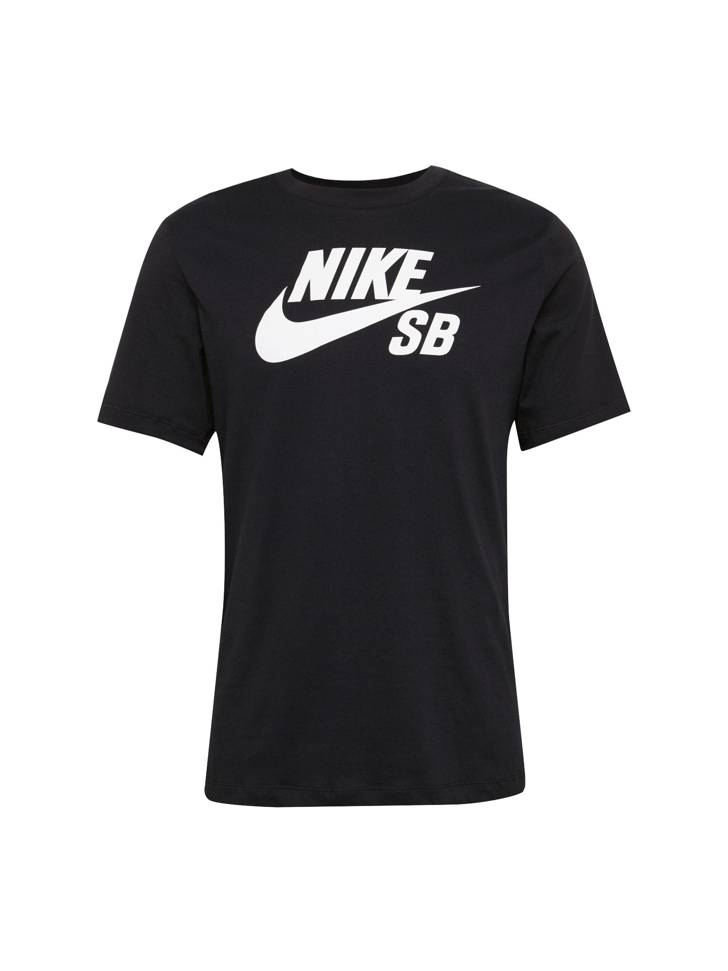 Tričko černá bílá Nike SB