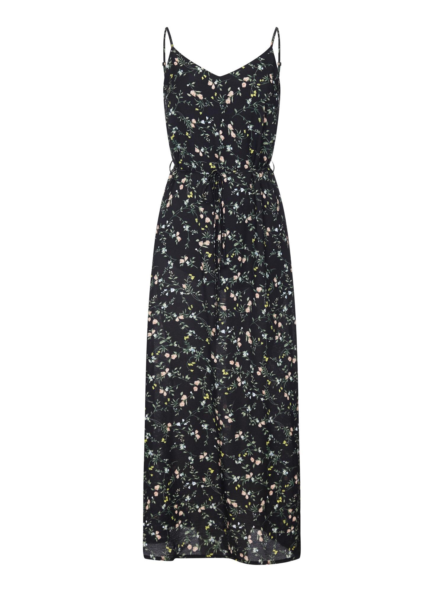 Letní šaty mix barev černá Mela London