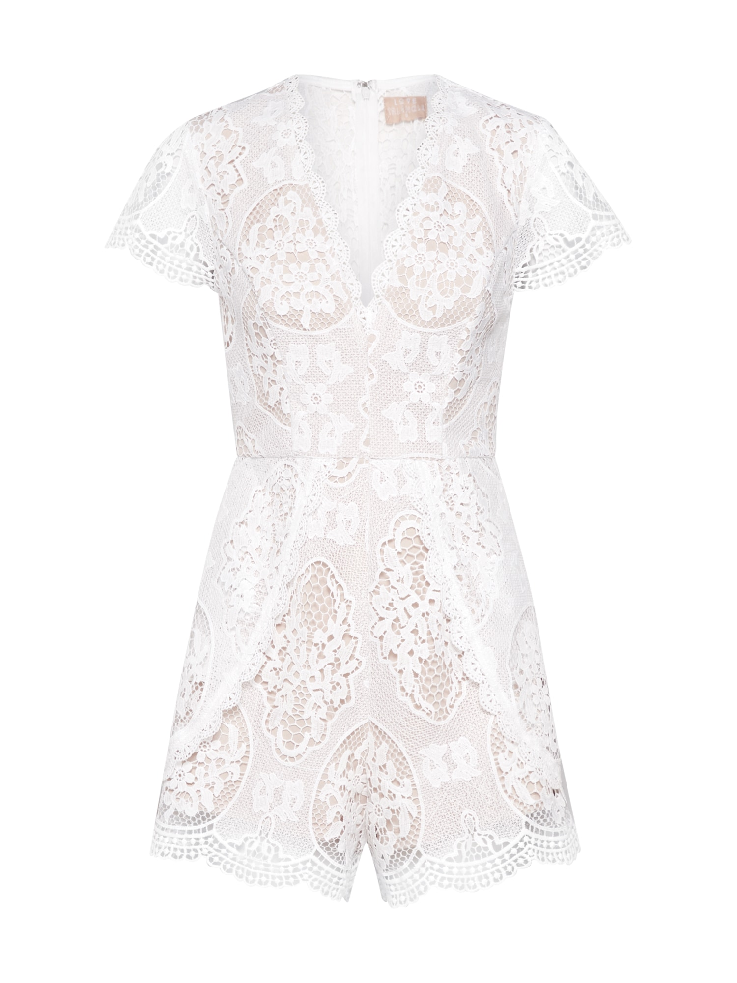 Overal In the Picture Playsuit bílá Love Triangle